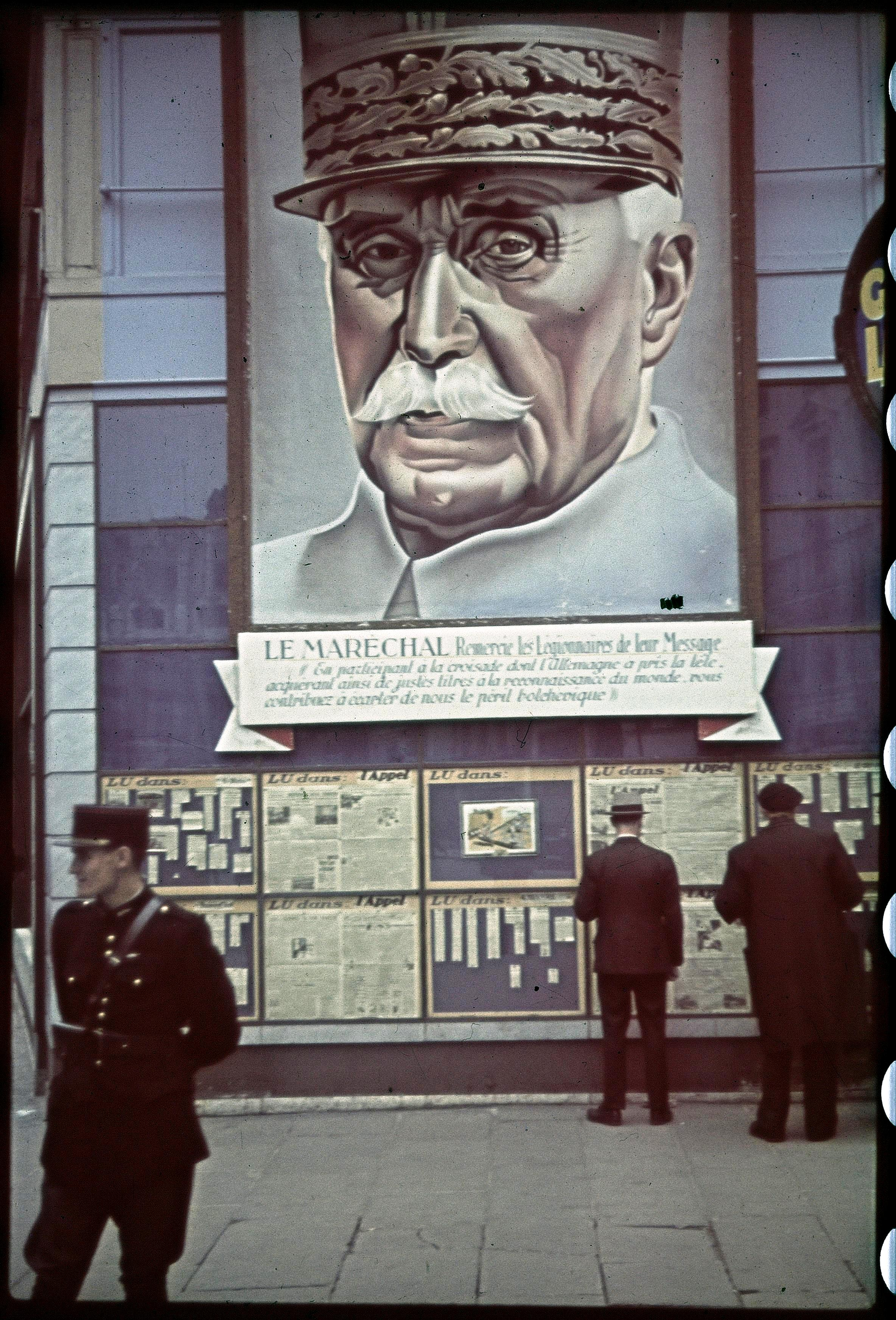 На углу Шоссе д'Антен. Фасад здания газеты «L'Appel»