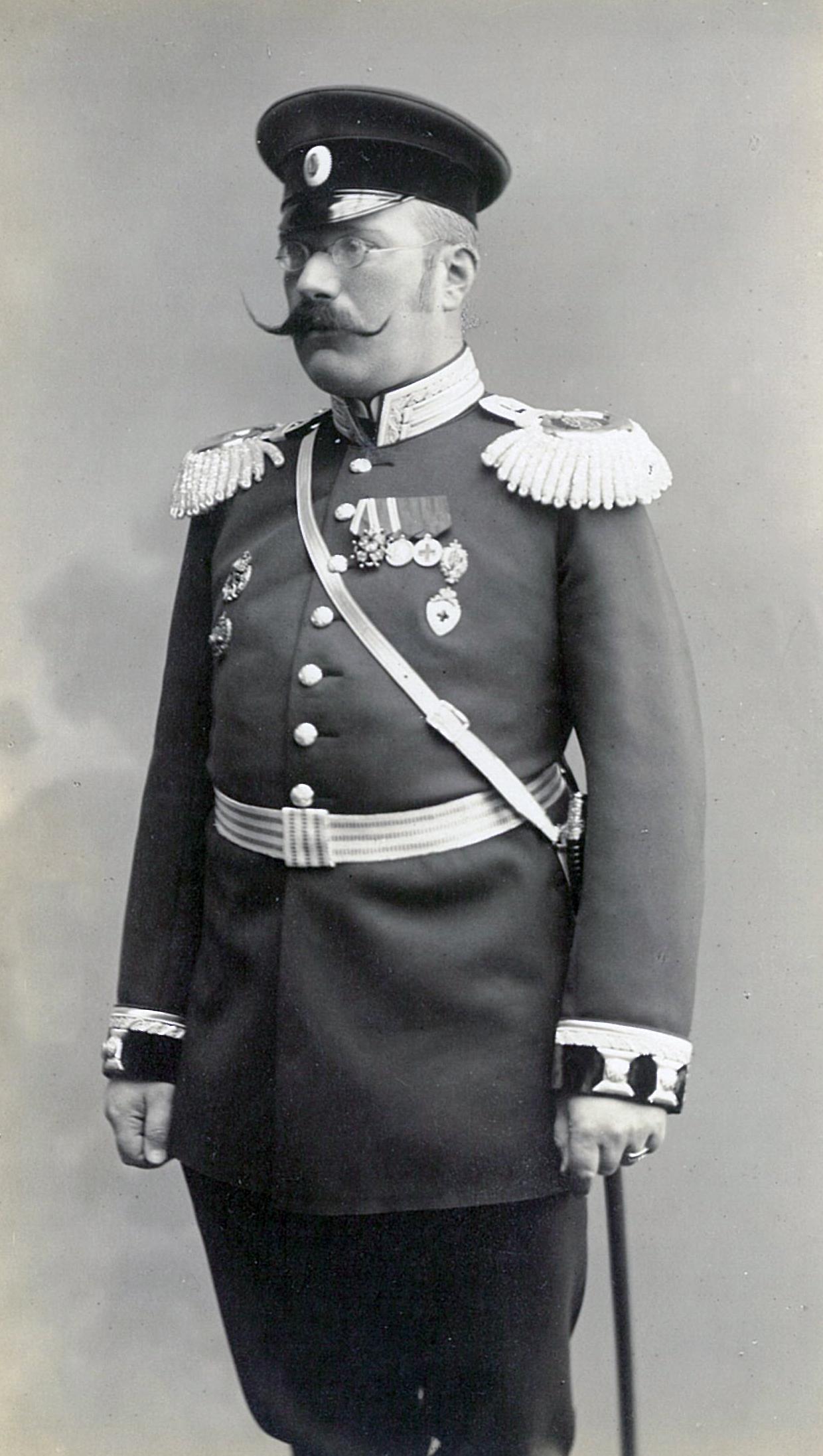 Василий Павлович Всеволожский в полной парадной военной форме. Он был доктором медицины на военной службе