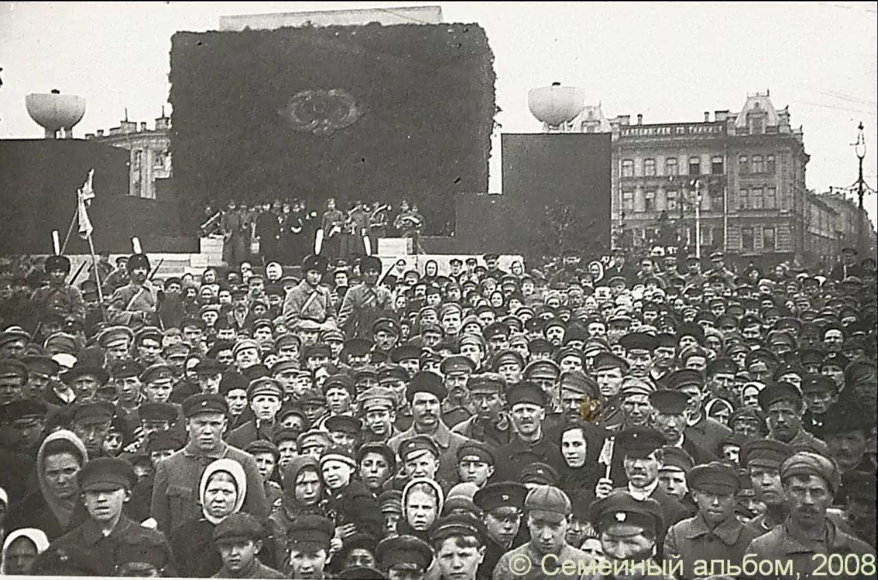 1921. Митинг на Знаменской (Восстания) площади