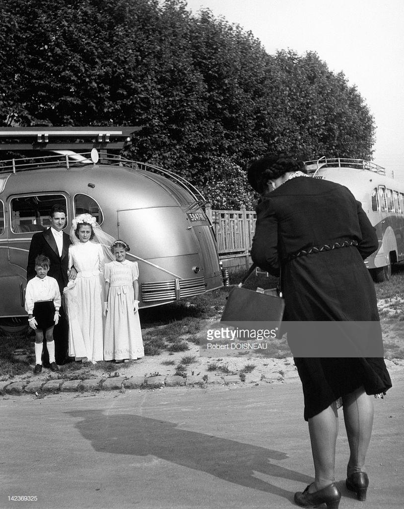 1946. Молодожены в Жуанвиль-ле-Пон