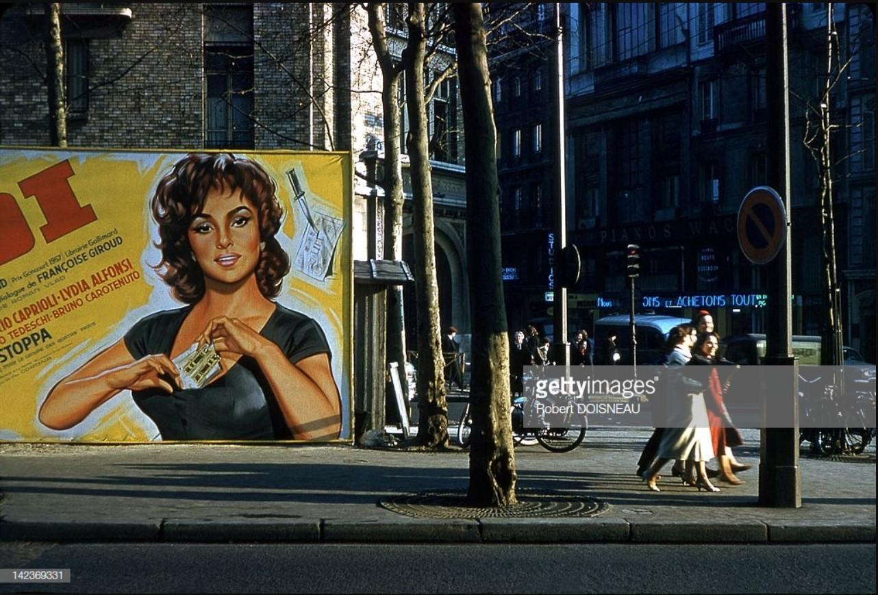 1959. Постер фильма Жюля Дассена «Закон» с Джиной Лоллобриджидой, Париж