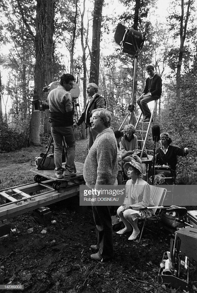 1984. Съемка фильма Бертрана Тавернье «Воскресенье в деревне» с Сабиной Аземой