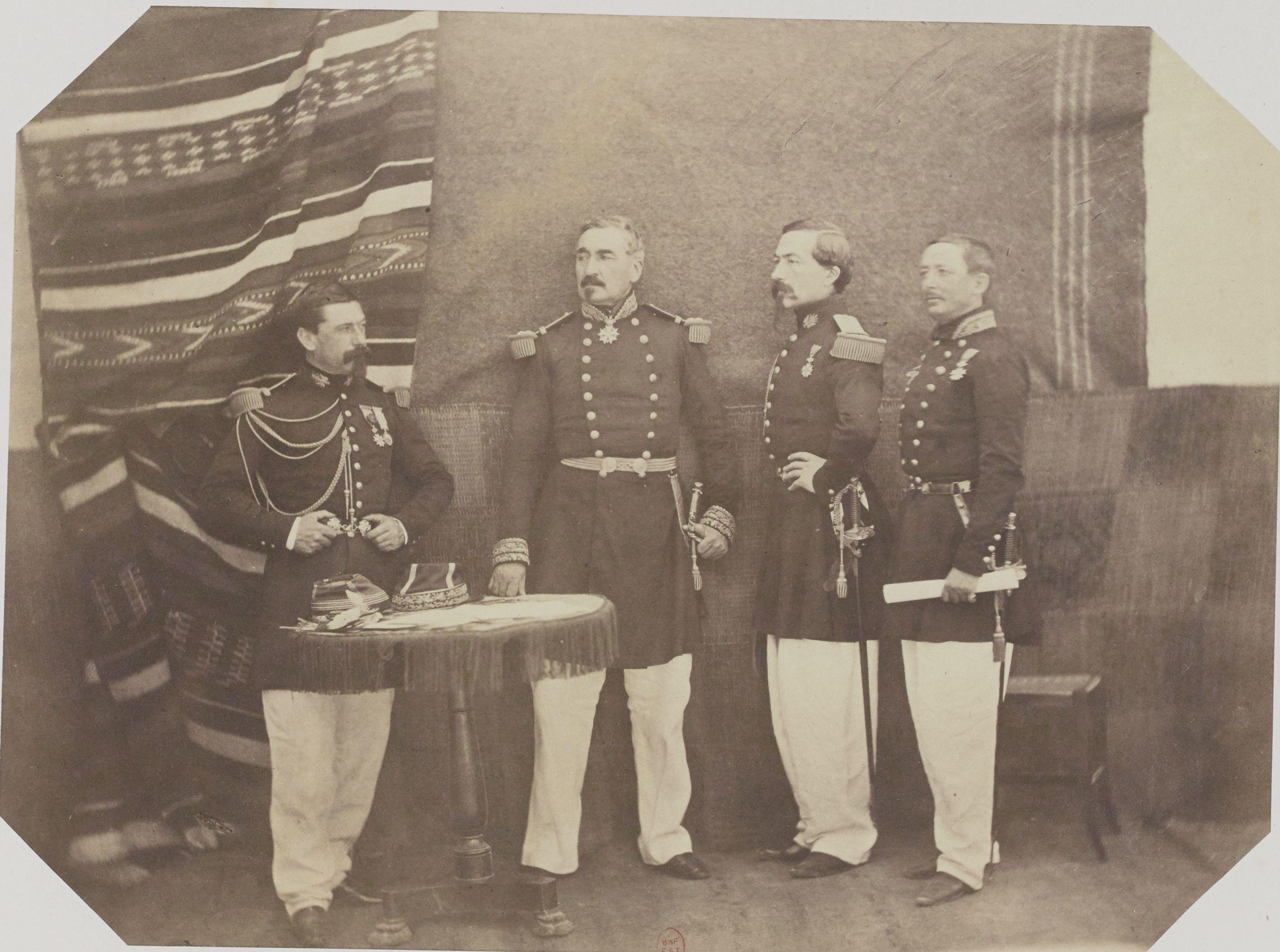 02. Дивизионный генерал Шарль Кузен-Монтабан и его офицеры. Оран