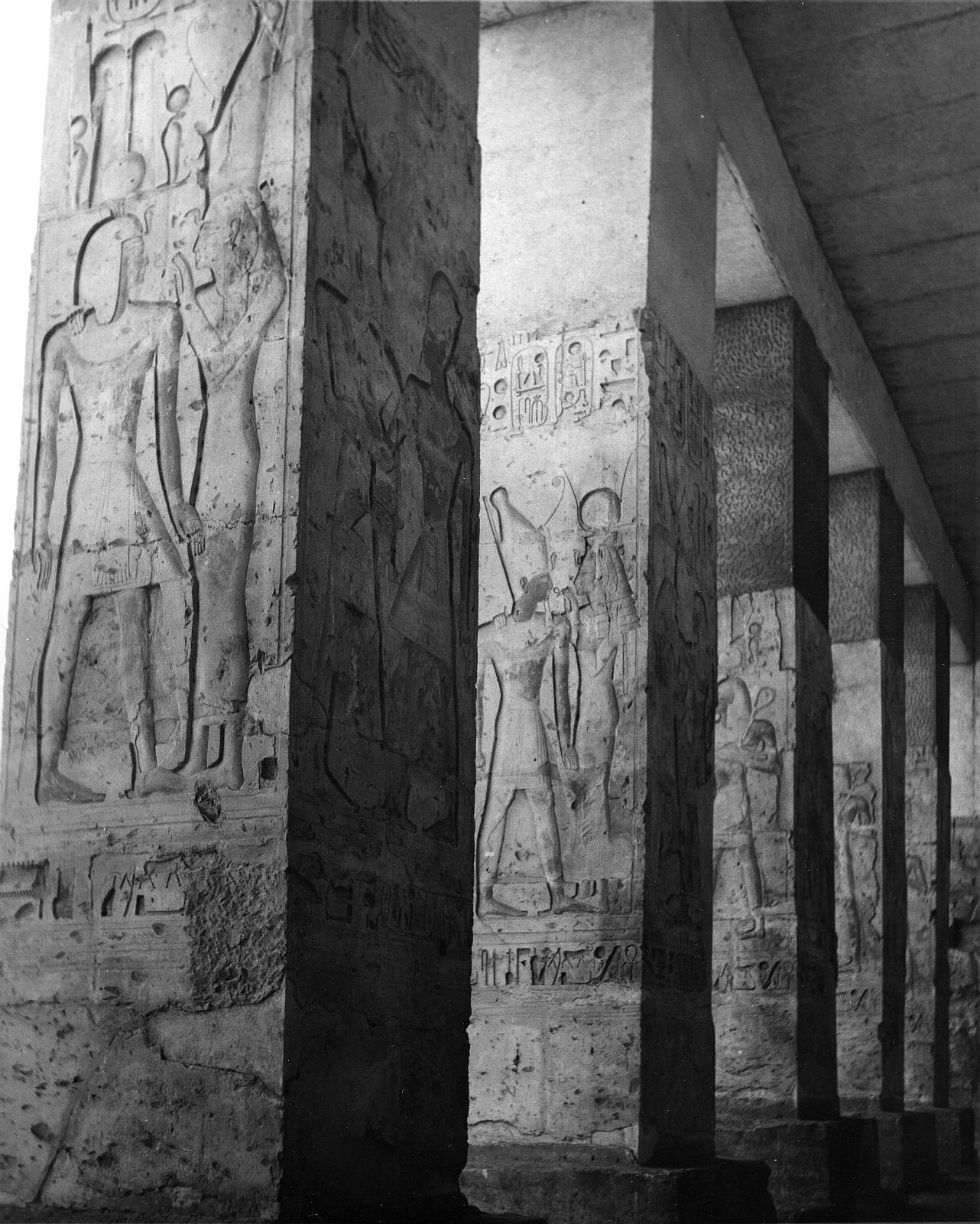 Абидос. Храм Сети I.  Второй двор