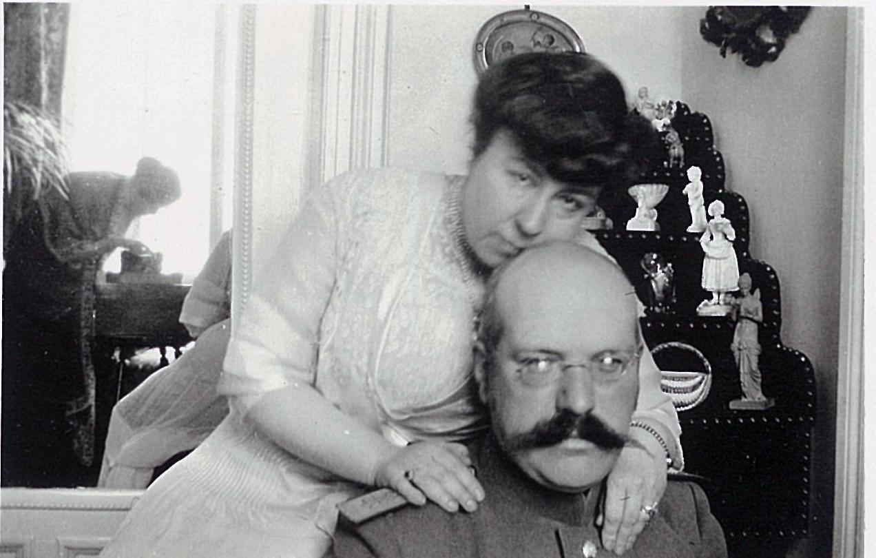 Лидия и Василий Всеволожские в помещении усадебного дома