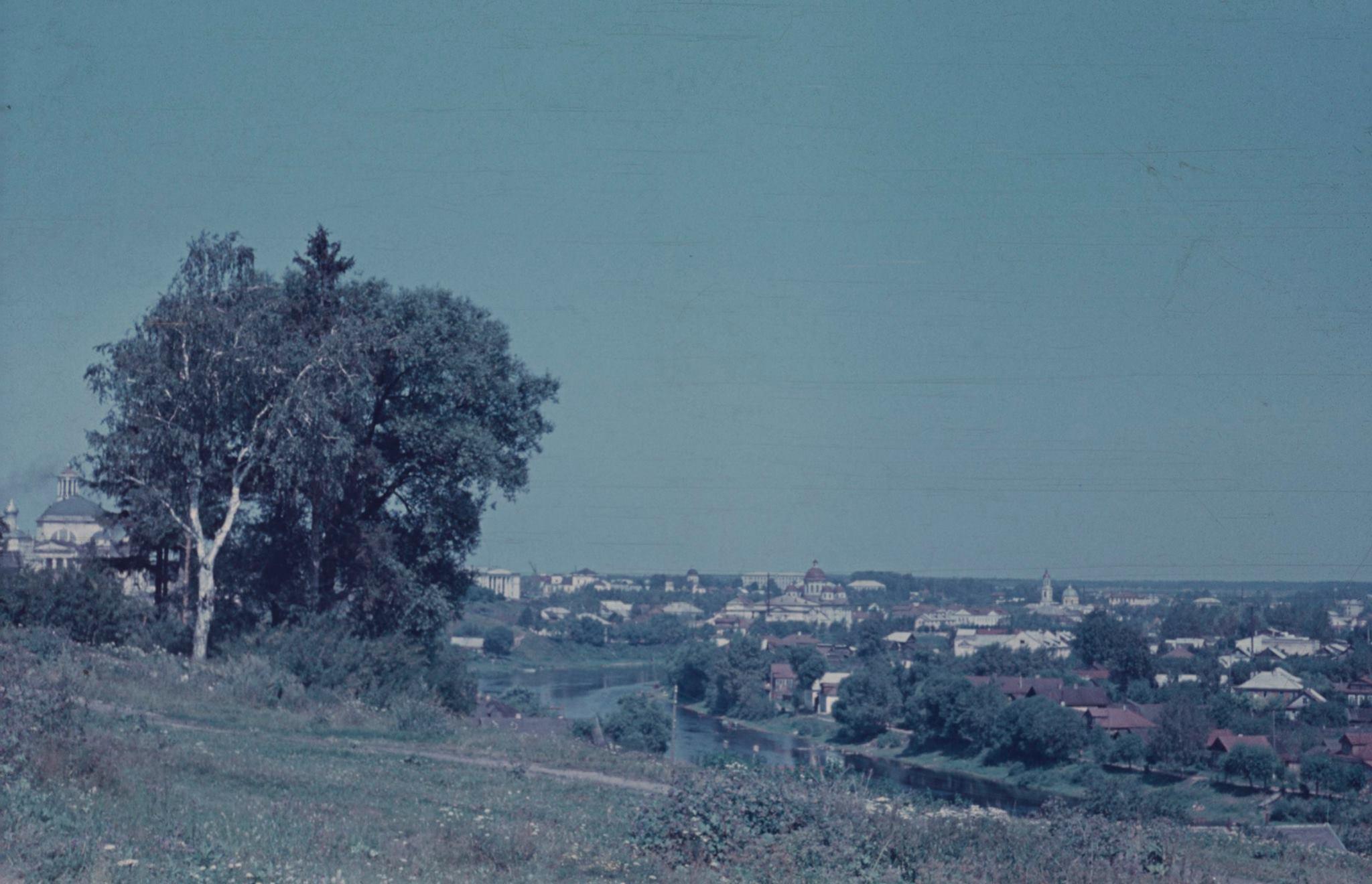 Торжок. Вид на Торжок от Тихвинской деревянной церкви