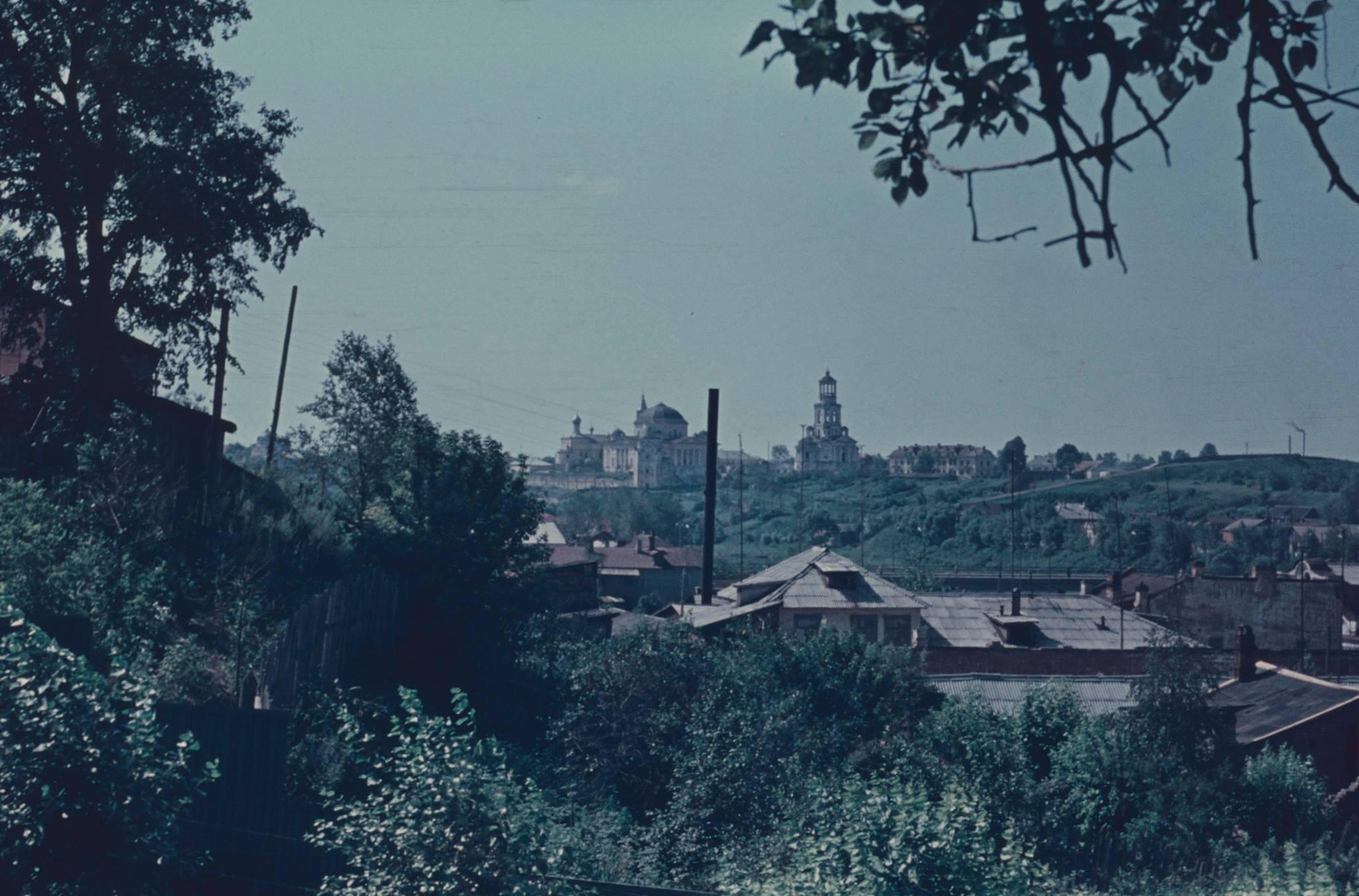 Торжок. Вид с Красной Горы на Борисоглебский монастырь.