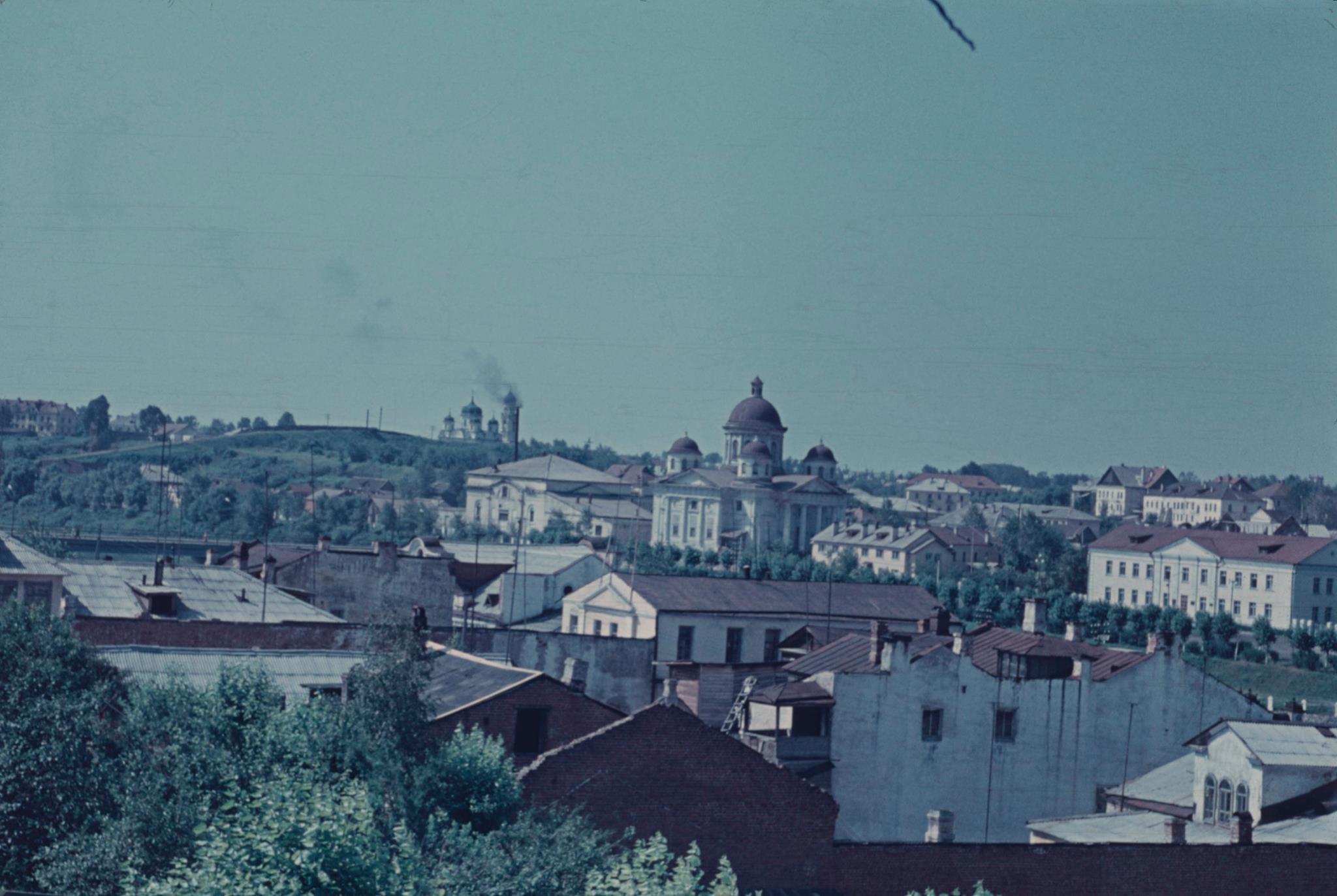 Торжок. Вид с Красной Горы на соборный ансамбль