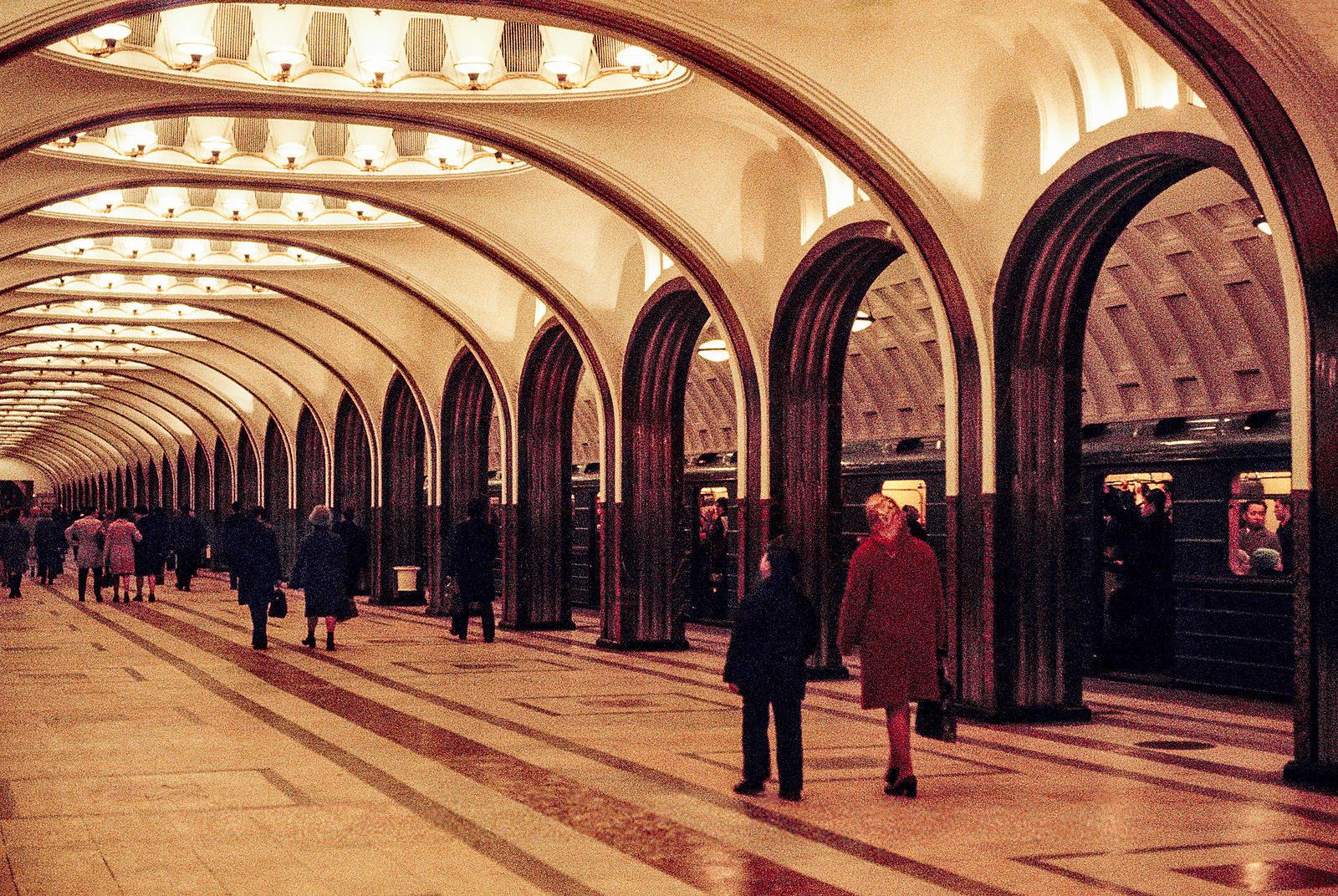 На станции метро «Маяковская»
