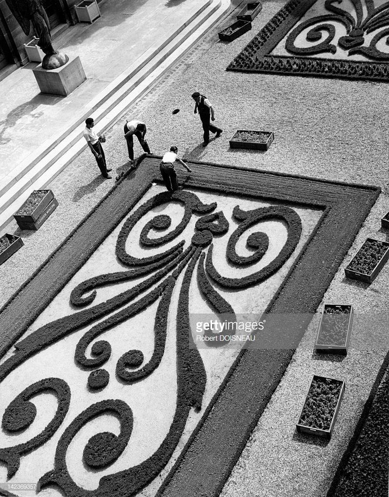 1955. Вид на сад музея Карнавале