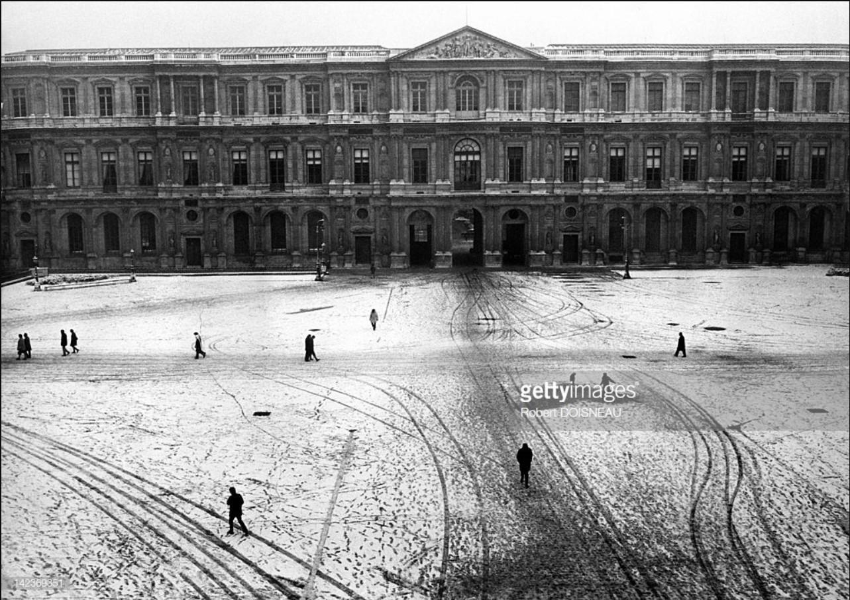1970. Двор Дома Инвалидов под снегом, Париж