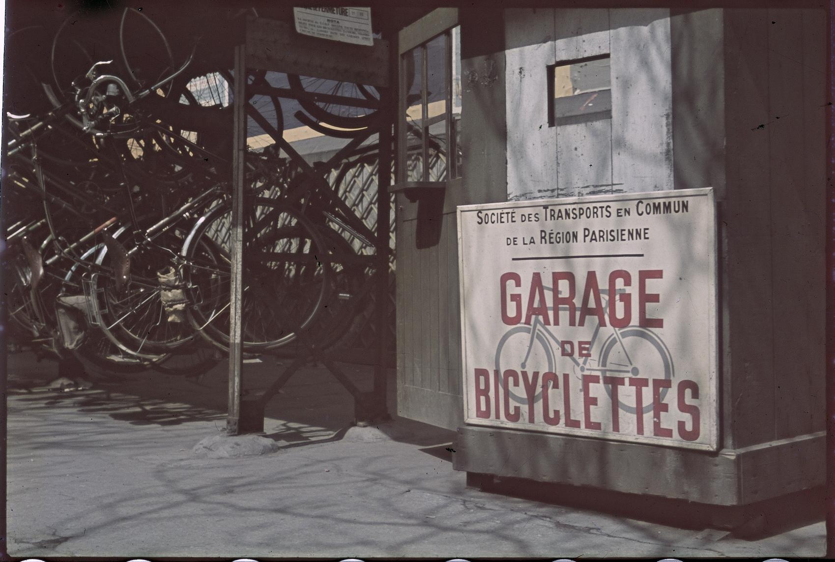 Велосипедный гараж на бульваре Пуассониер