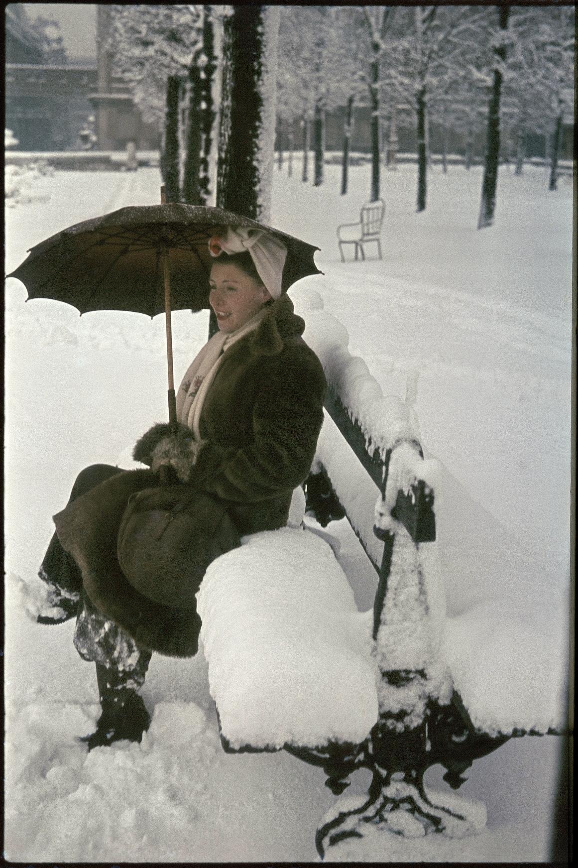 Тюильри под снегом. Мадам Зукка
