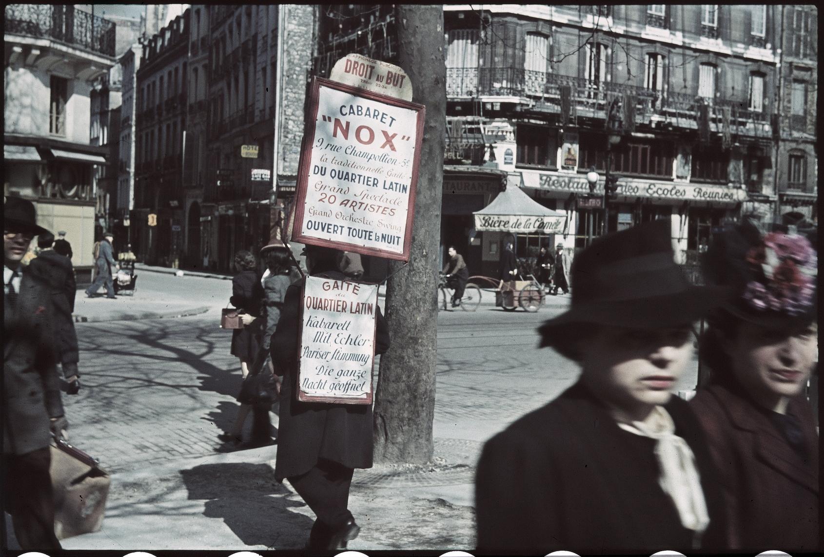Человек-сендвич. бульвар Сен-Жермен