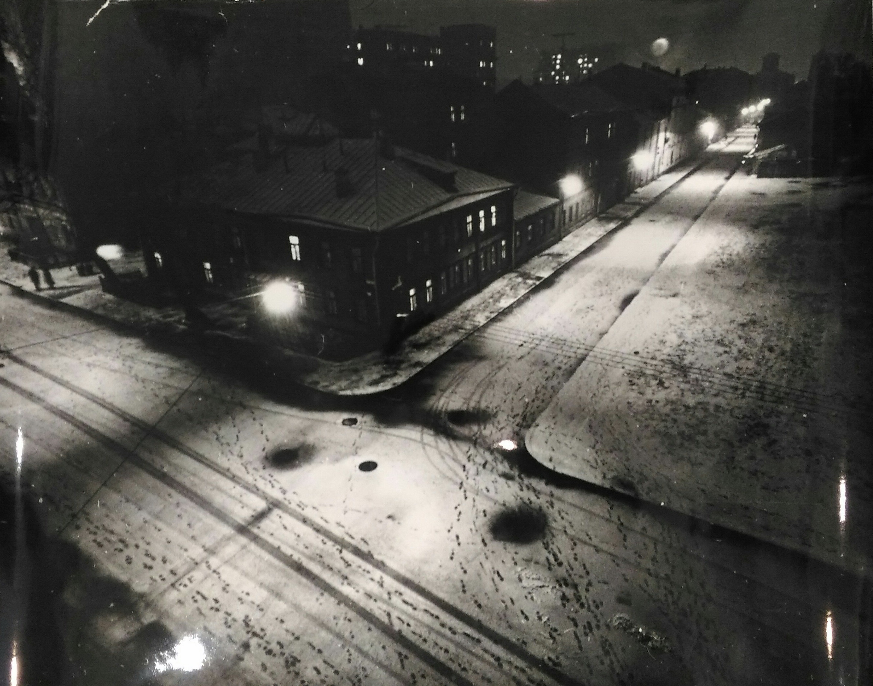 1960. Лазарев Л.Н. «Зимний вечер. Москва. 3-ий Лесной переулок»