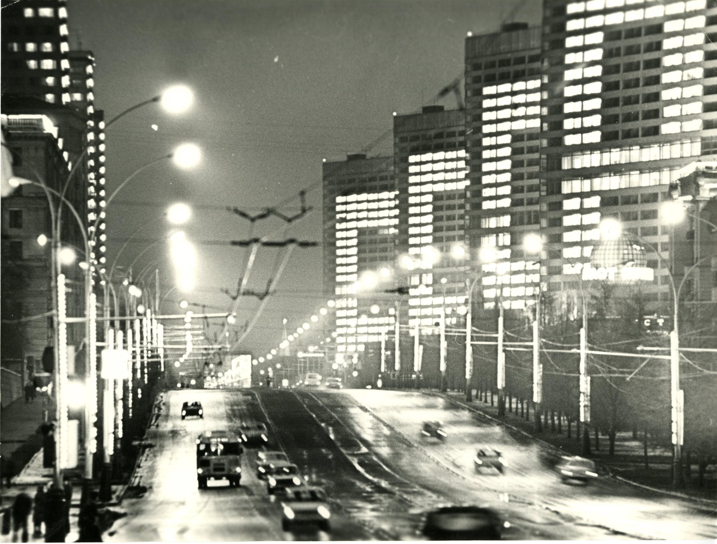 1970-е. Грачёв М.П. «Москва вечерняя. Калининский проспект»