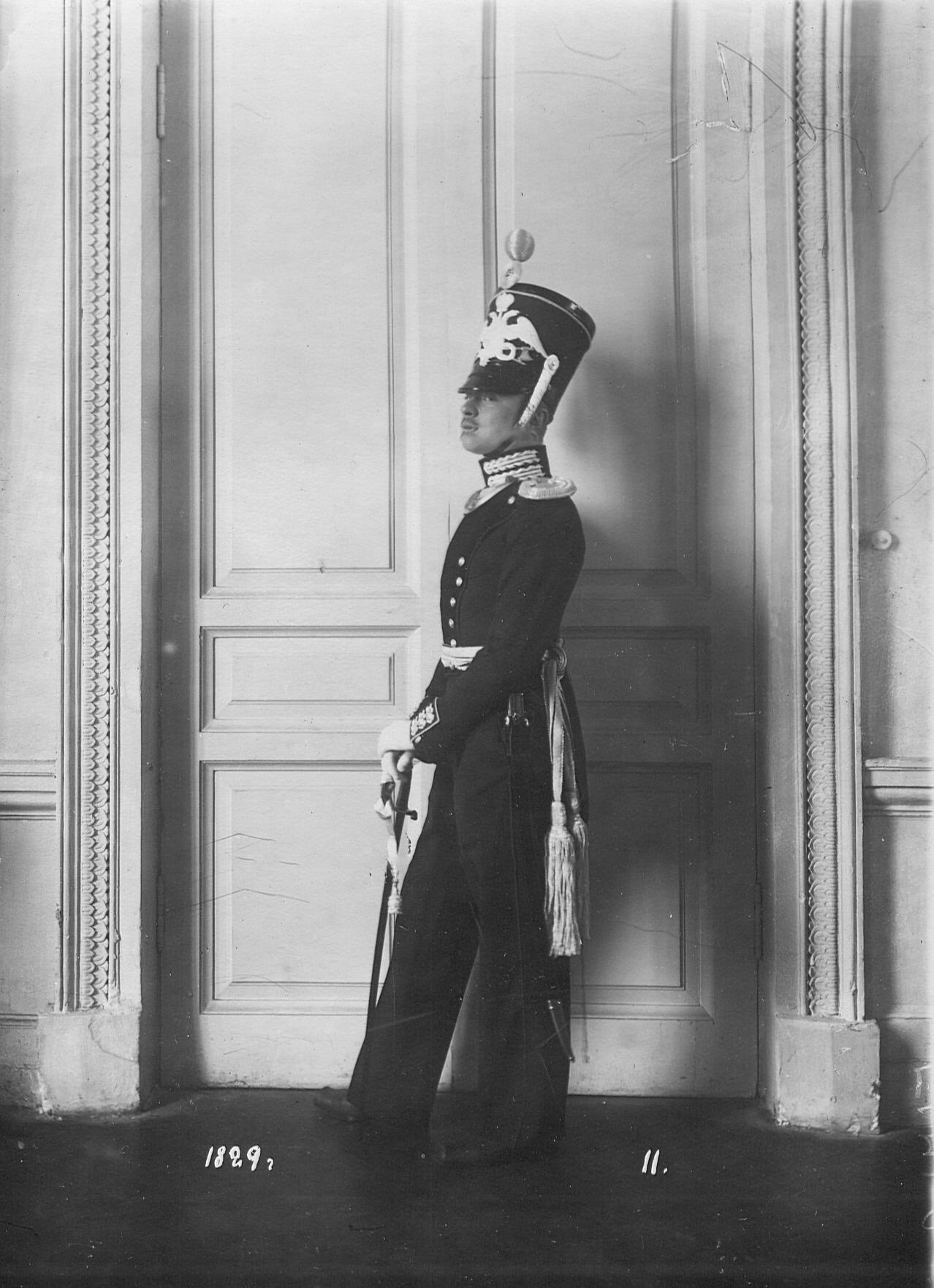 Форма офицера батальона образца 1829 года.
