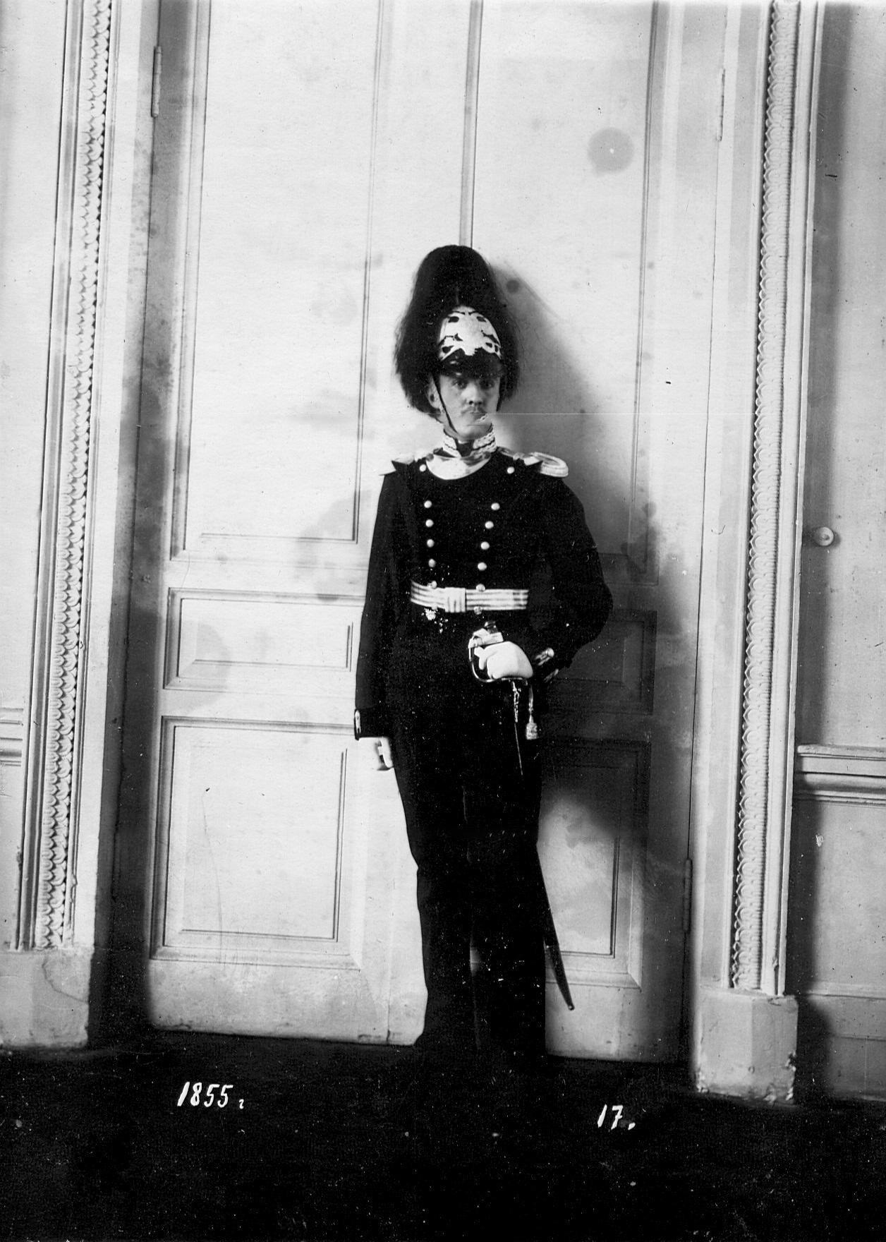 Форма офицера батальона образца 1855 года.