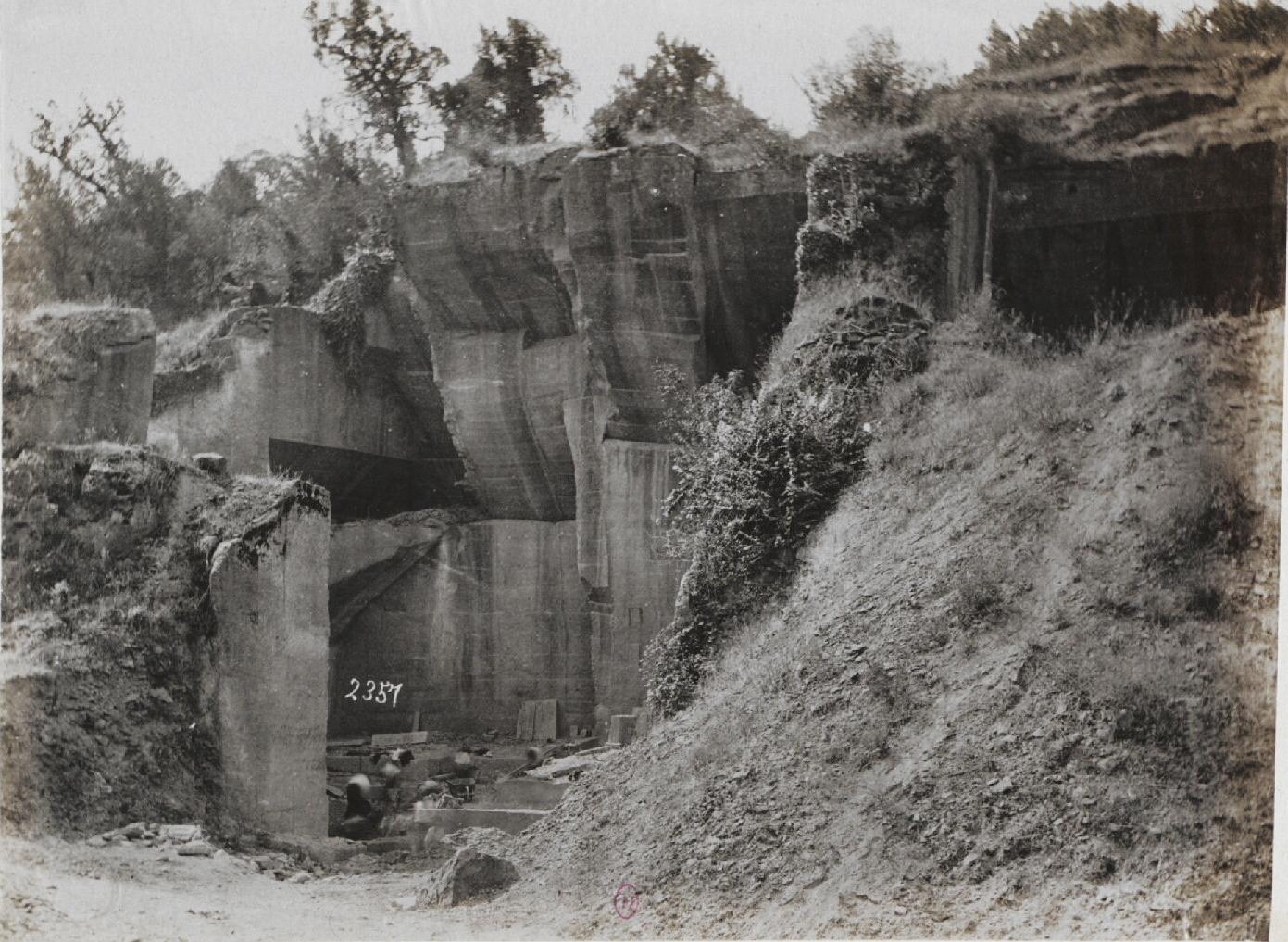 Каменные карьеры Пеперино (lapis Albanus) под Марино, ныне снова используемые