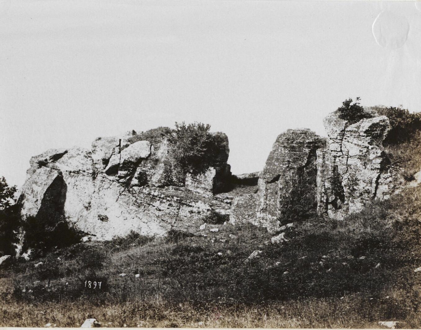 Тускул. Акрополь, Внешний угол, северная сторона. 1000 г.до н.э.