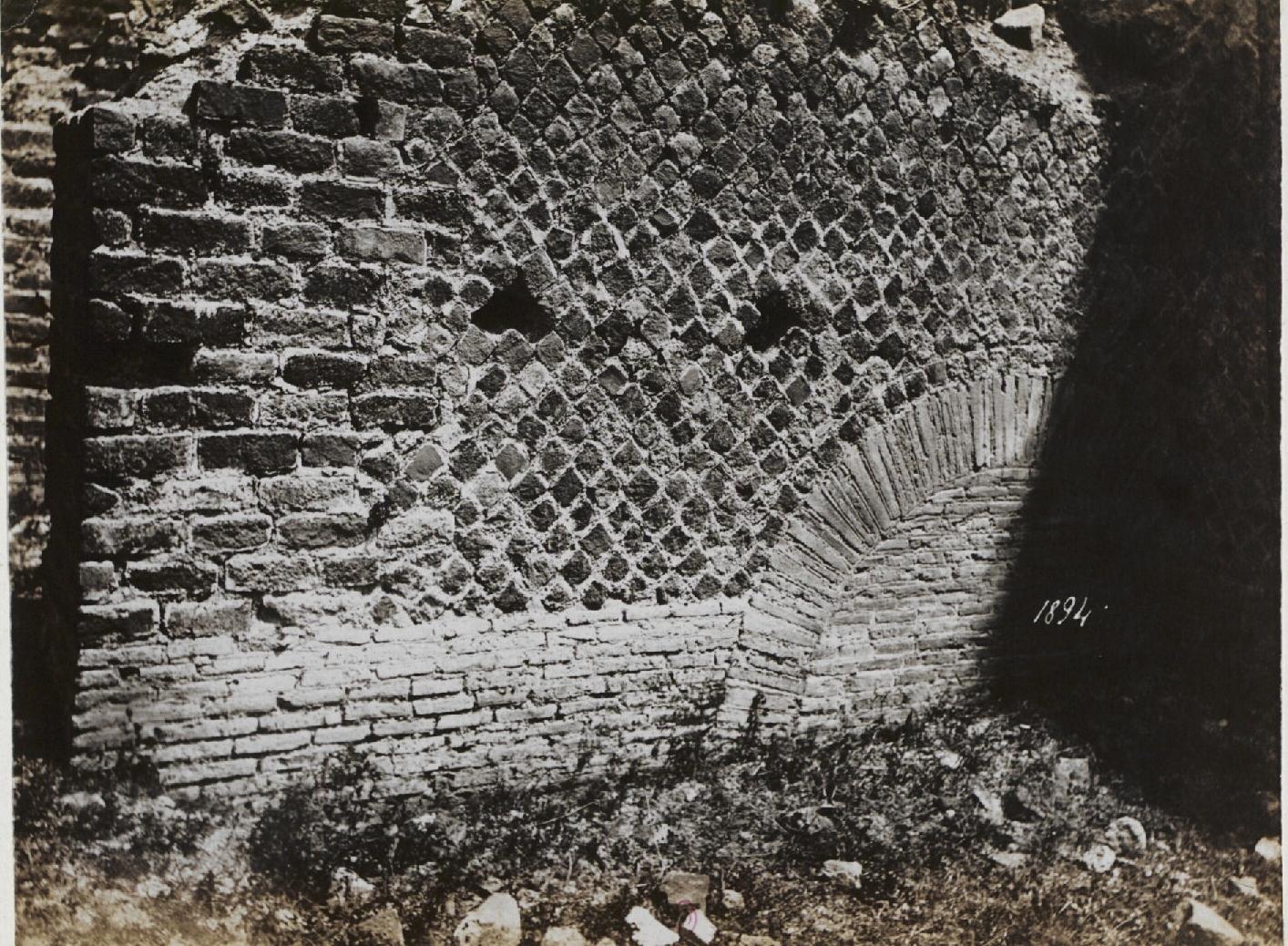 Тускул.  Дом Цицерона, южная сторона, Opus reticulatum  20 г.до н.э.