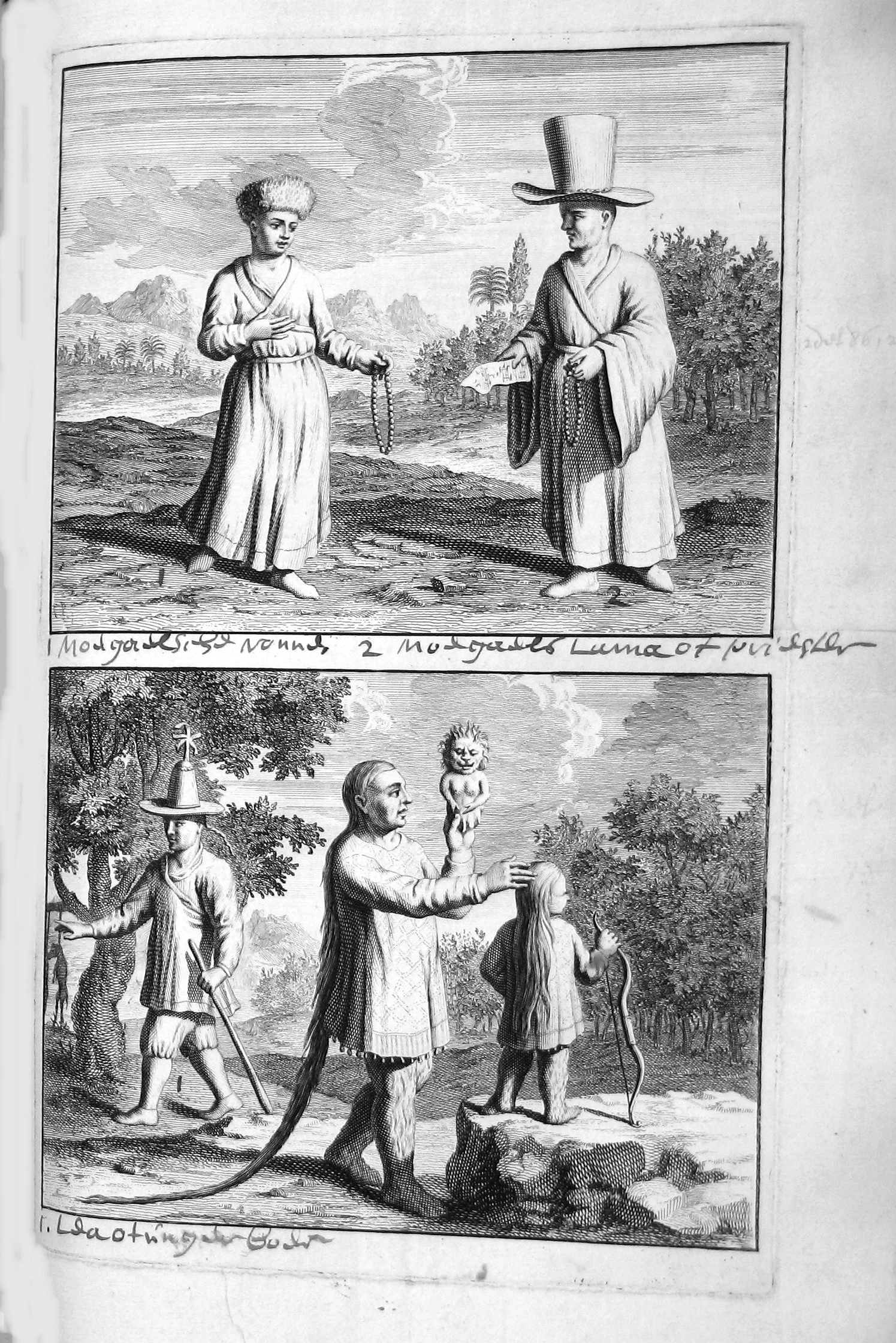Мугальская монахиня. Мугальский лама или священник