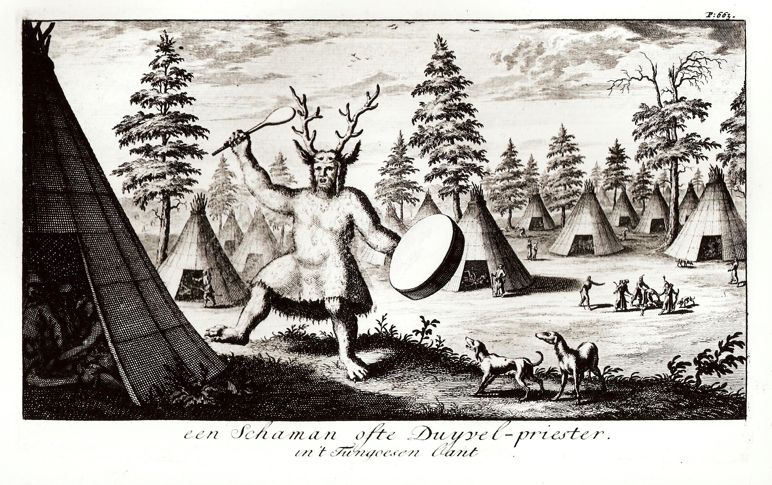Шаман или жрец Дьявола в стране Тунгусов