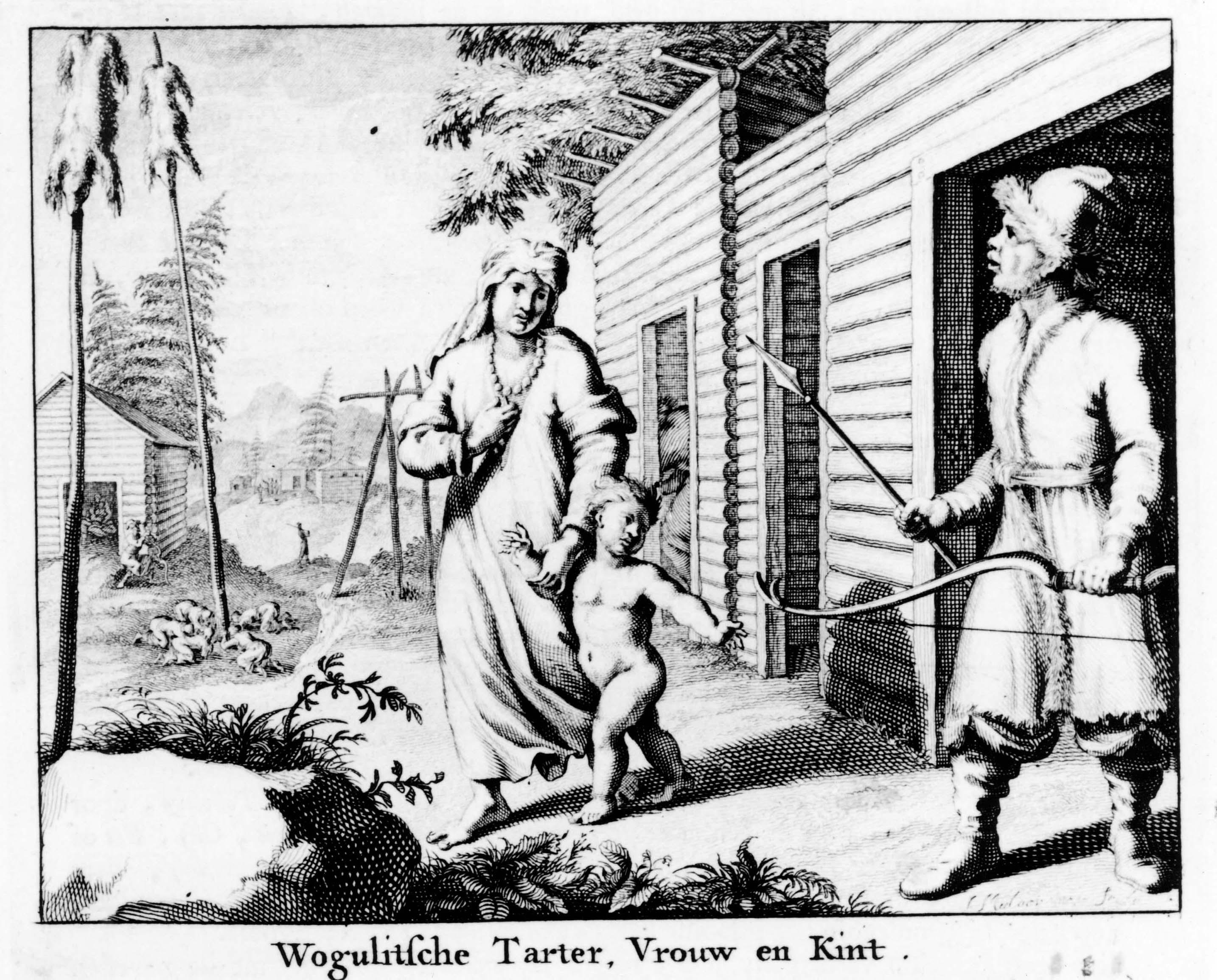 Вогульский тартар, женщина и ребенок