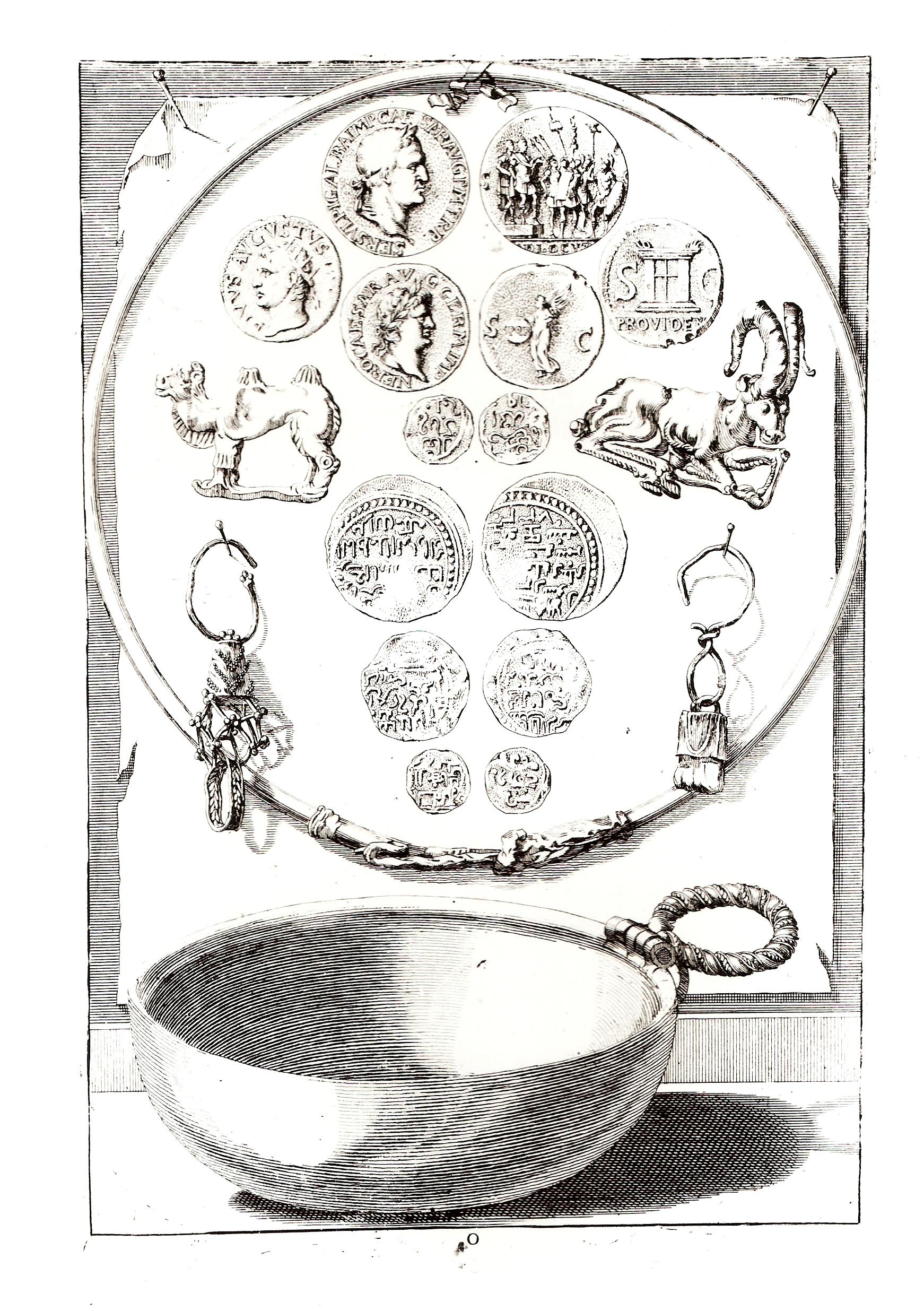 Древние монеты и предметы