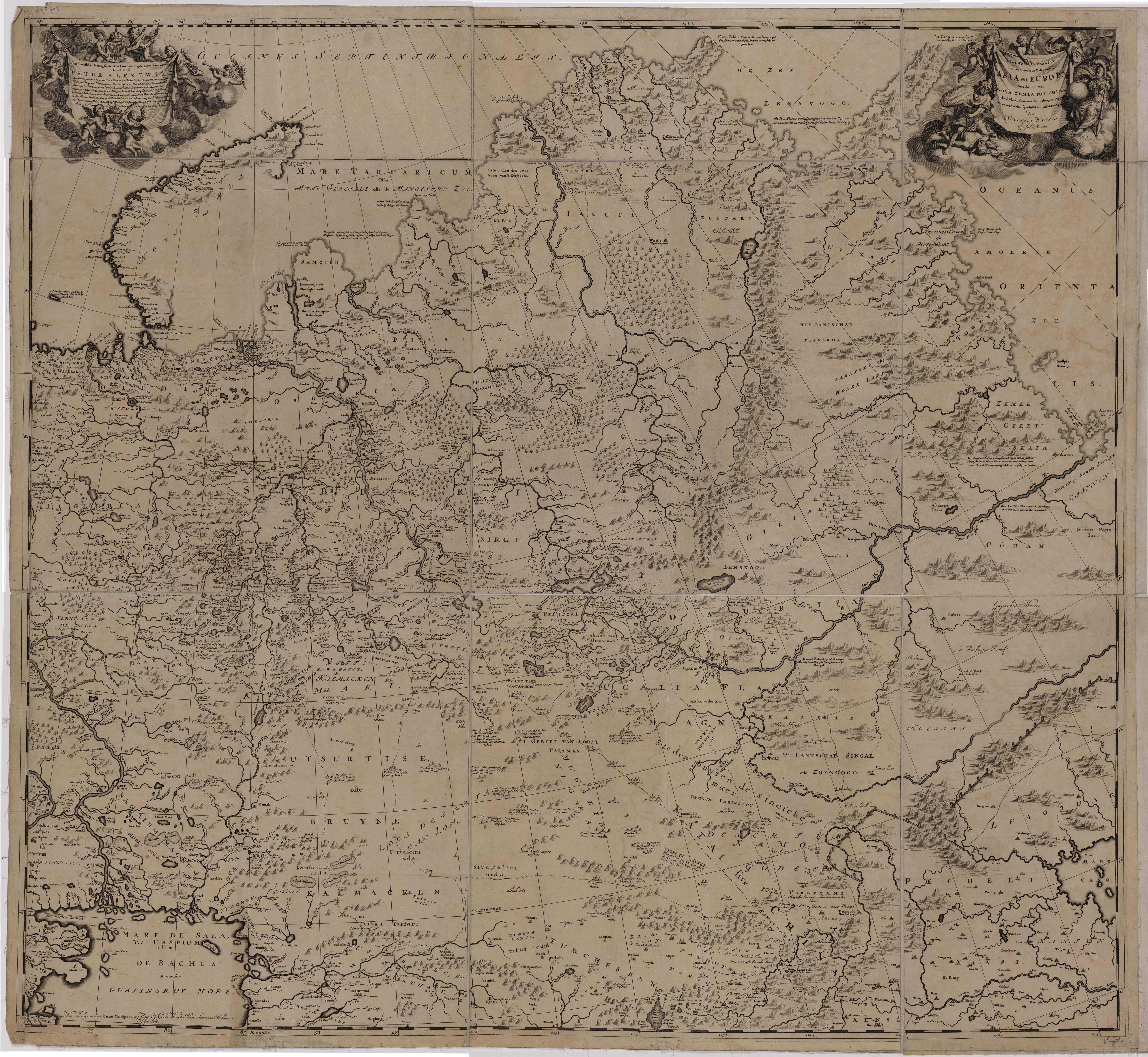 Карта Северной Азии Николаса Витсена