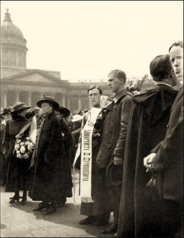 1918. Похороны в Петрограде Георгия Валентиновича Плеханова