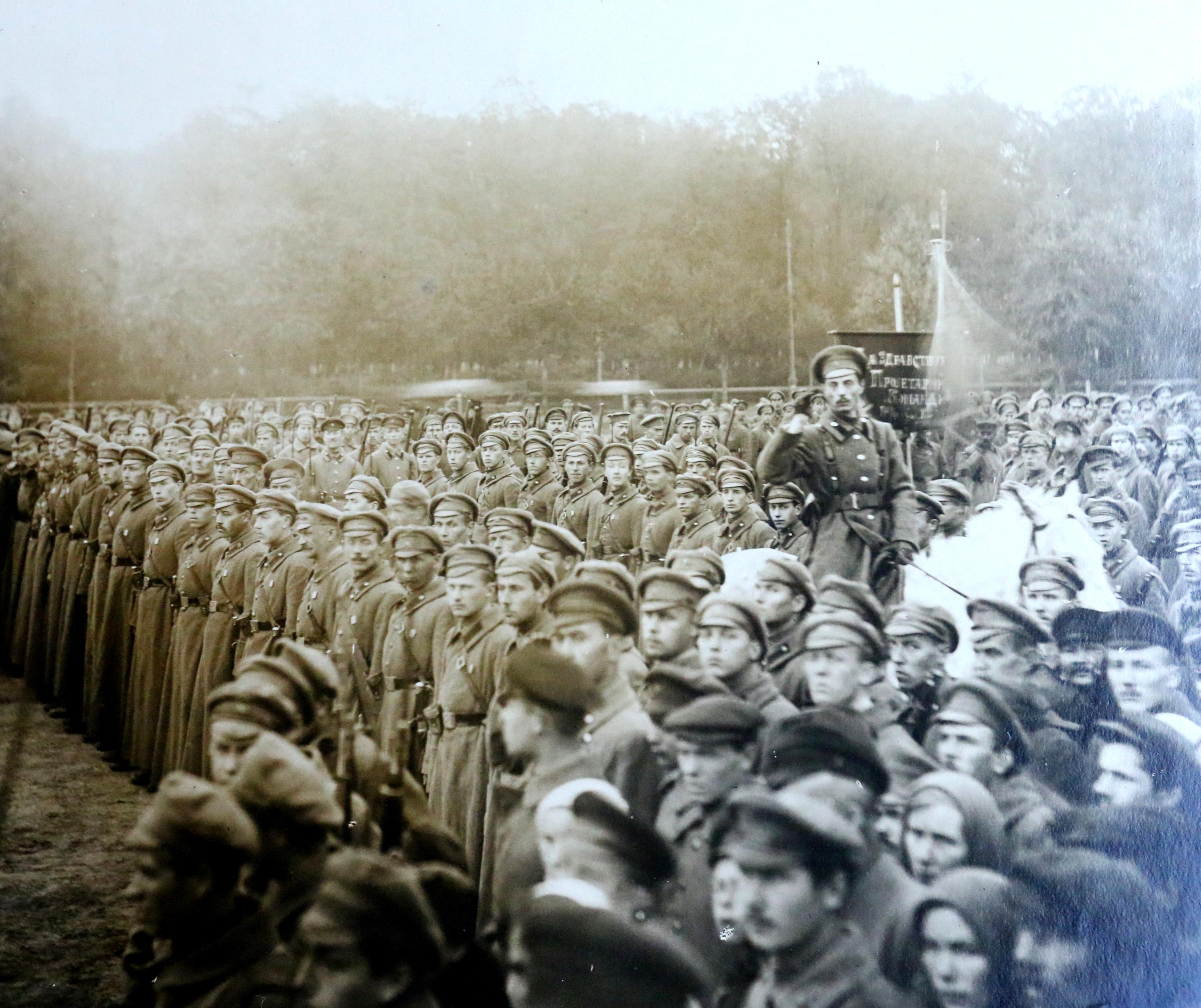 Парад студентов Военной академии