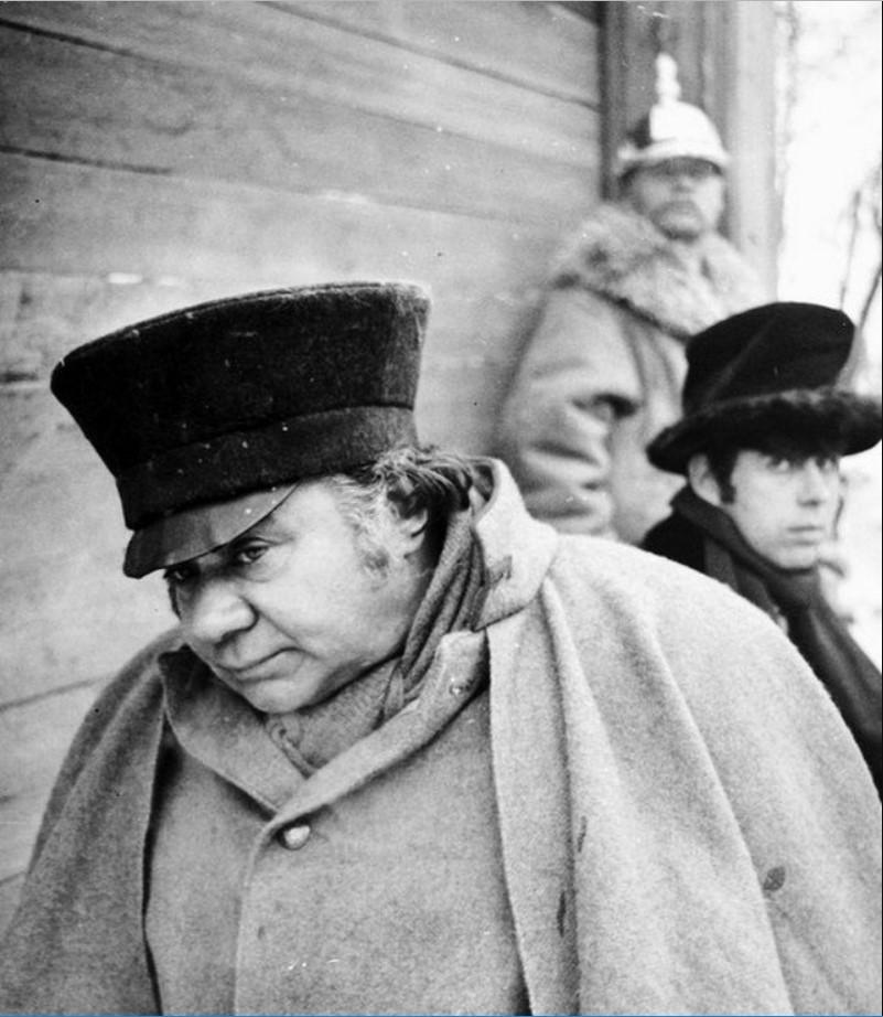 1977. Евгений Леонов на съемках фильма «Женитьба»
