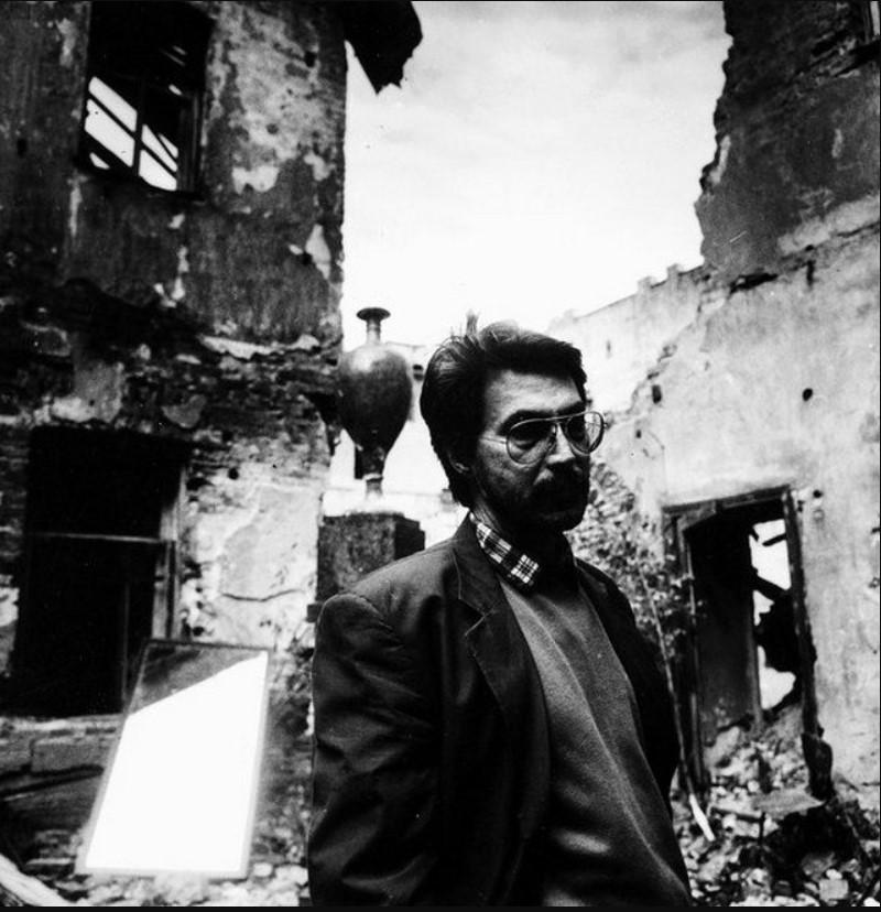 1989. Рустам Хамдамов на съемках фильма «Анна Карамазофф»