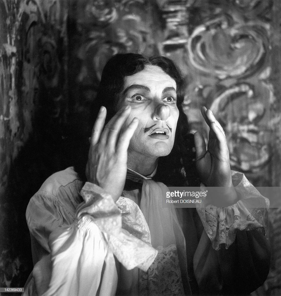 1960. Портрет французского актера, режиссера и мима Жан-Луи Барро, игравшего в то время «La Petite Moliere»