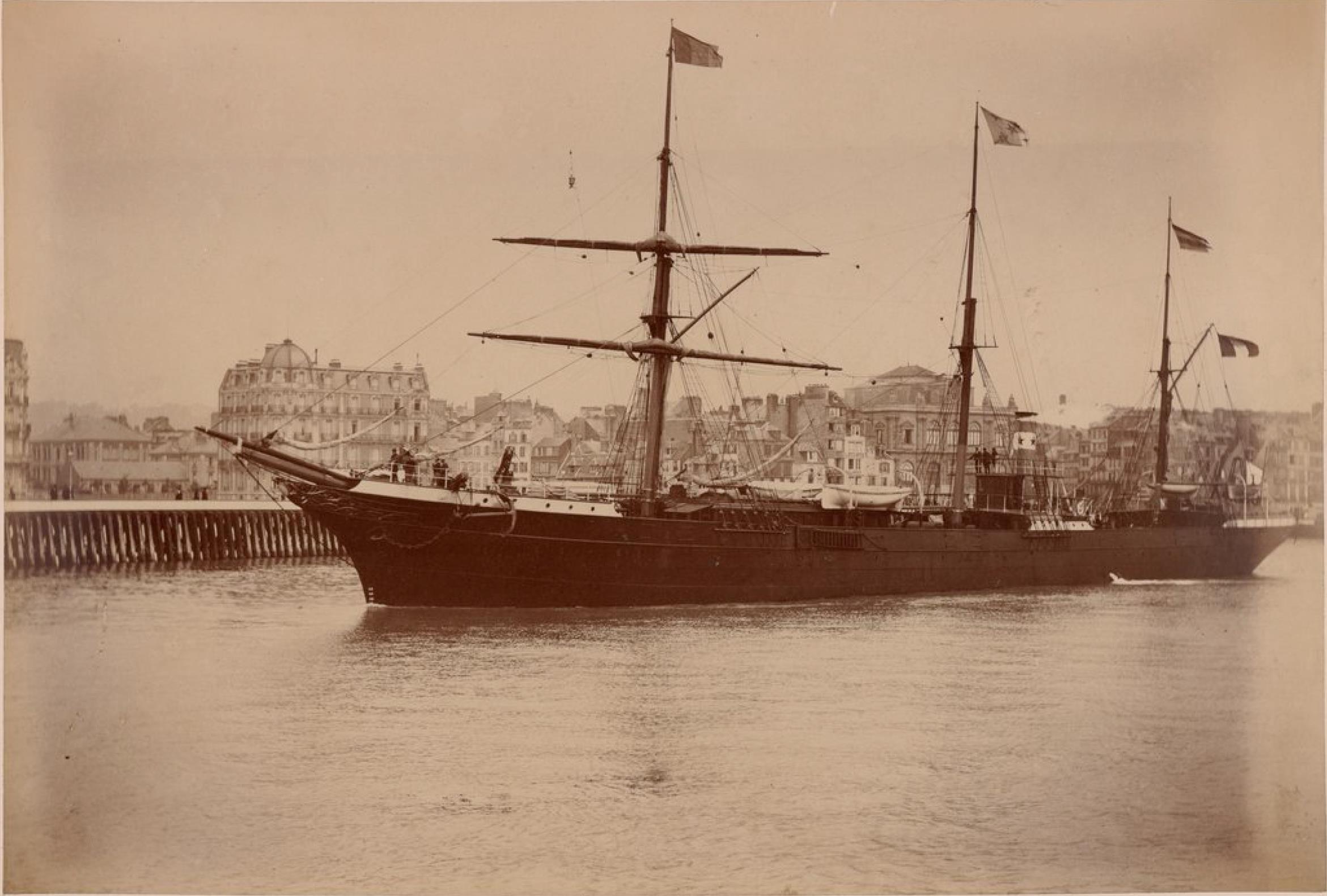 Компания «Chargeurs Reunis». Гавр. Пассажирское судно «Город Сантос». Линия Гавр - Южная Америка