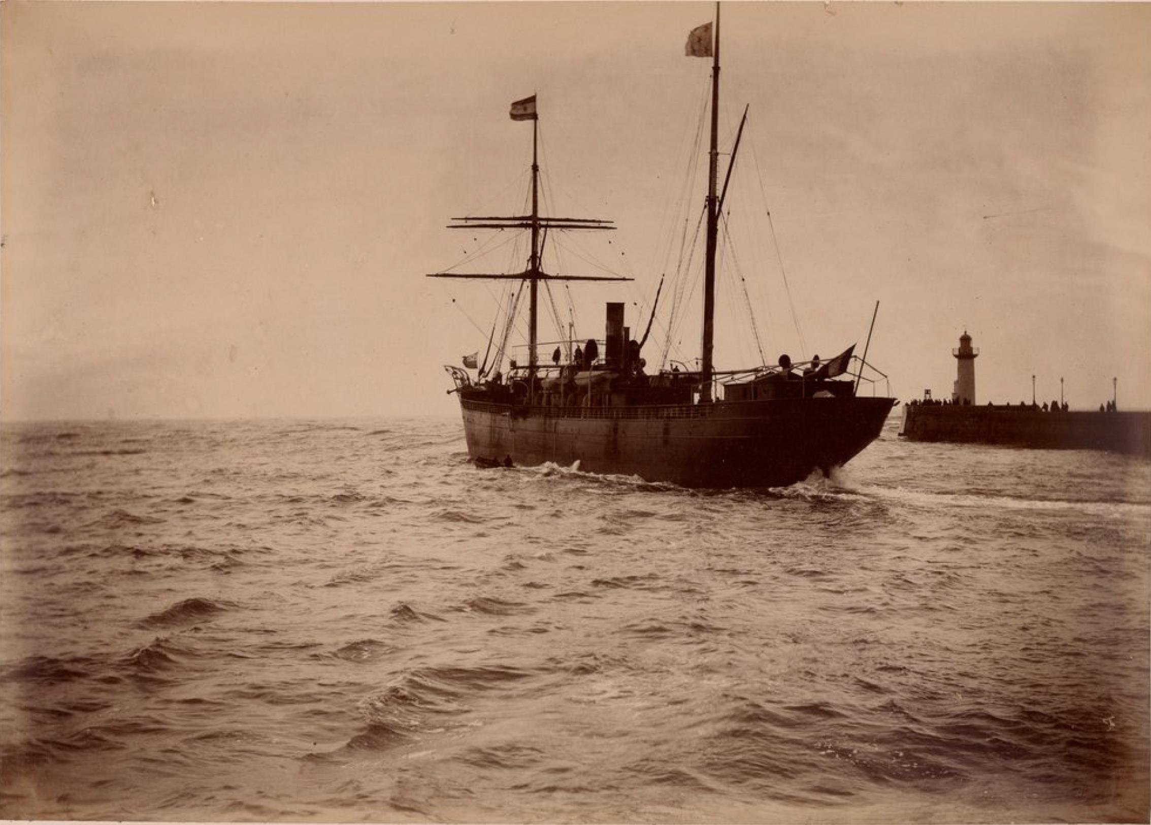 Компания «Chargeurs Reunis». Гавр. Пассажирское судно «Монтевидео». Линия Гавр - Южная Америка