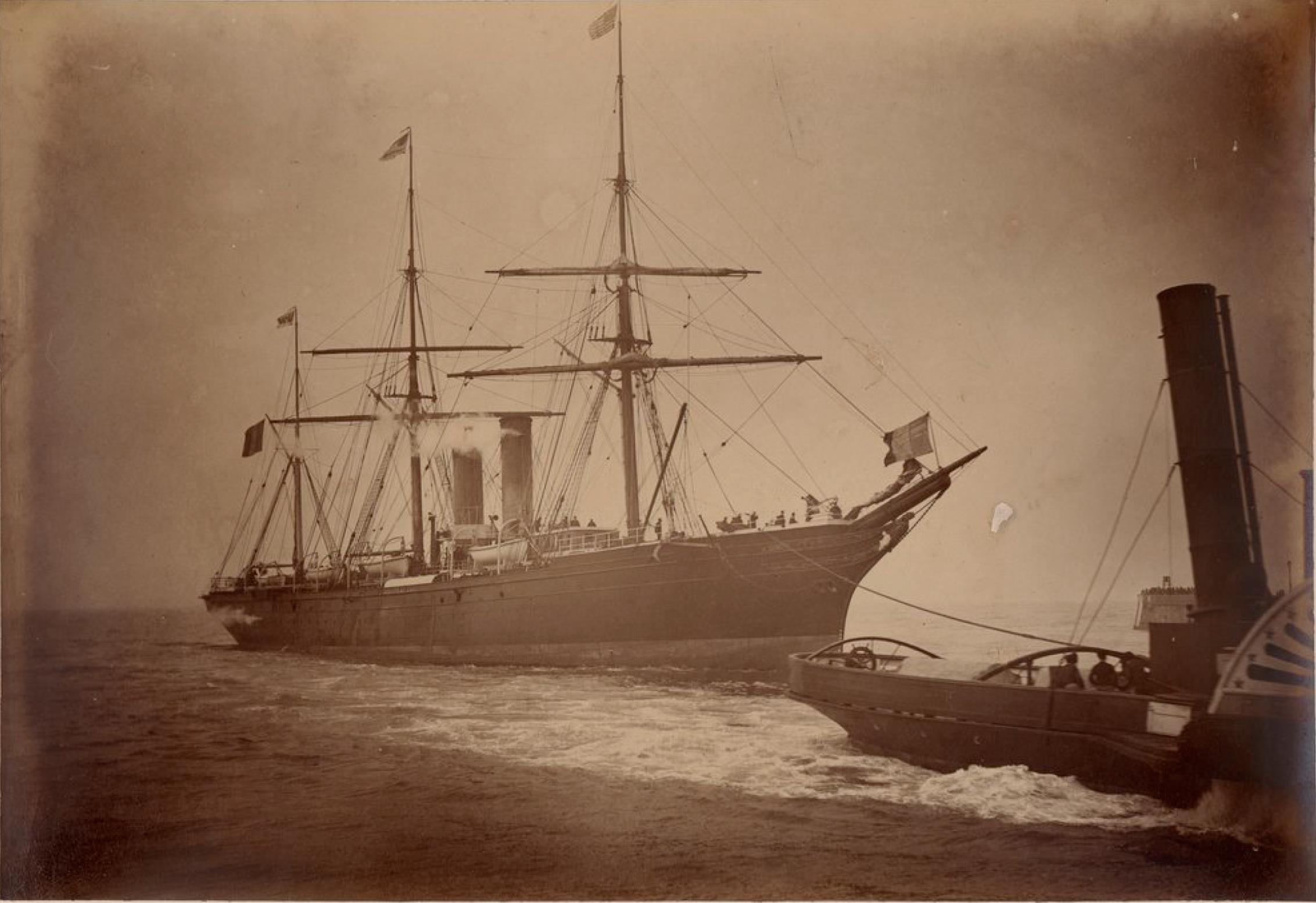 Компания «Chargeurs Reunis». Гавр. Почтовое судно «Перейра». Линия Гавр - Нью-Йорк