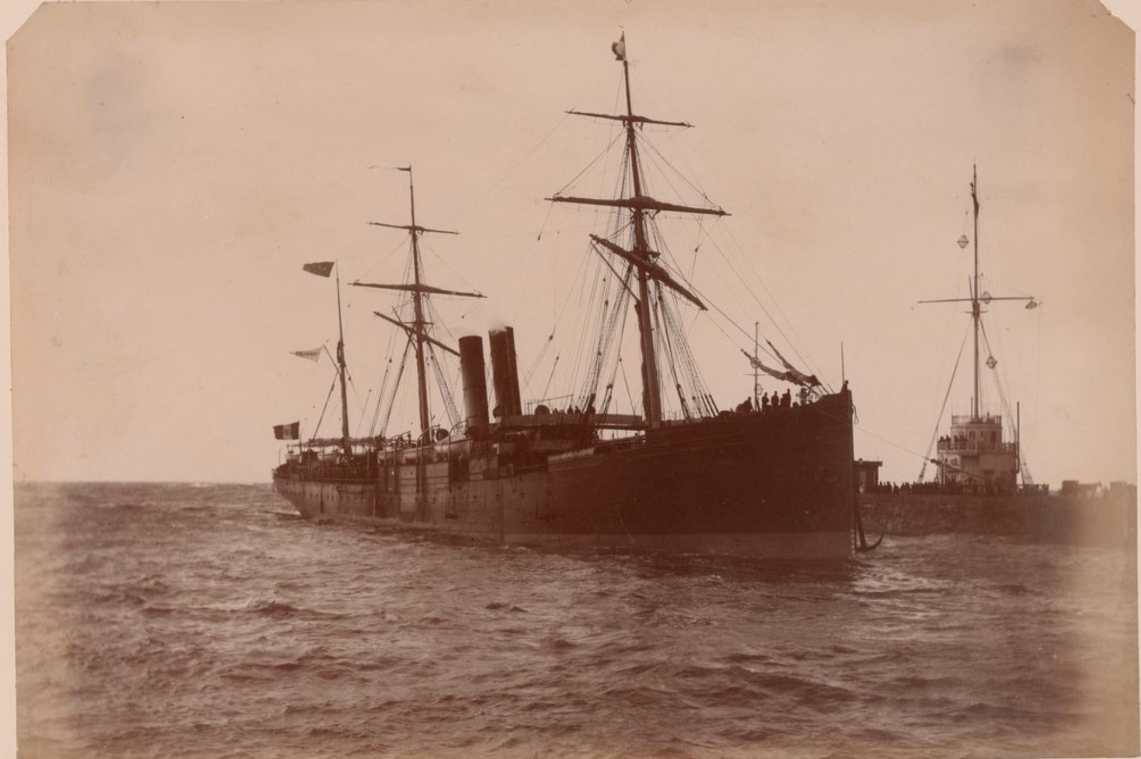 Мексиканская трансатлантическая компания. «Камаулипас». Линия Гавр - Вера-Круз. 19 ноября 1883
