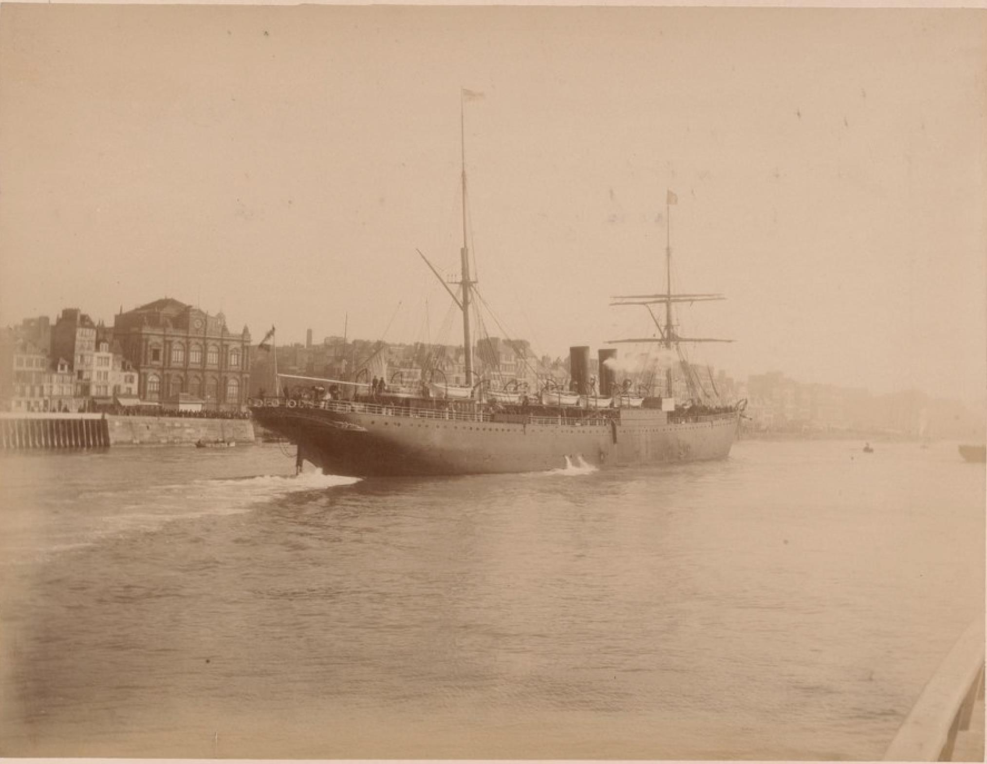 Пассажирское судно «Силезия». Линии Гамбург-Гавр, Гамбург - Нью-Йорк