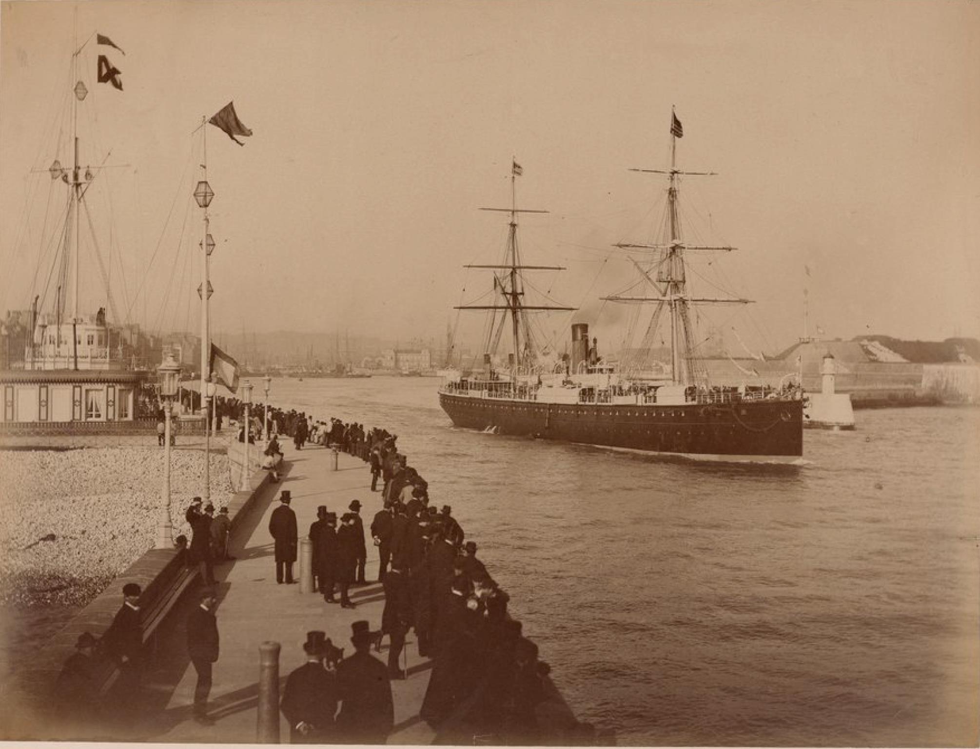 Трансатлантическая компания. Гавр. Почтовое судно «Олинде Родригес». Линия Гавр - Нью-Йорк