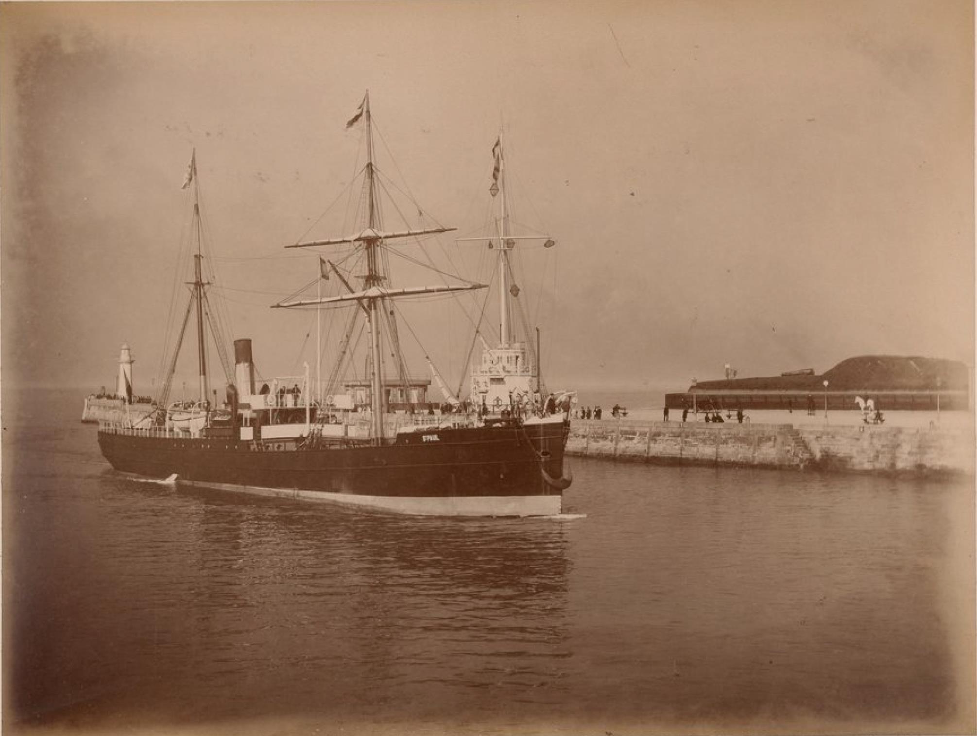 Транспорт «Сен-Поль». Принадлежит Западной морской компании