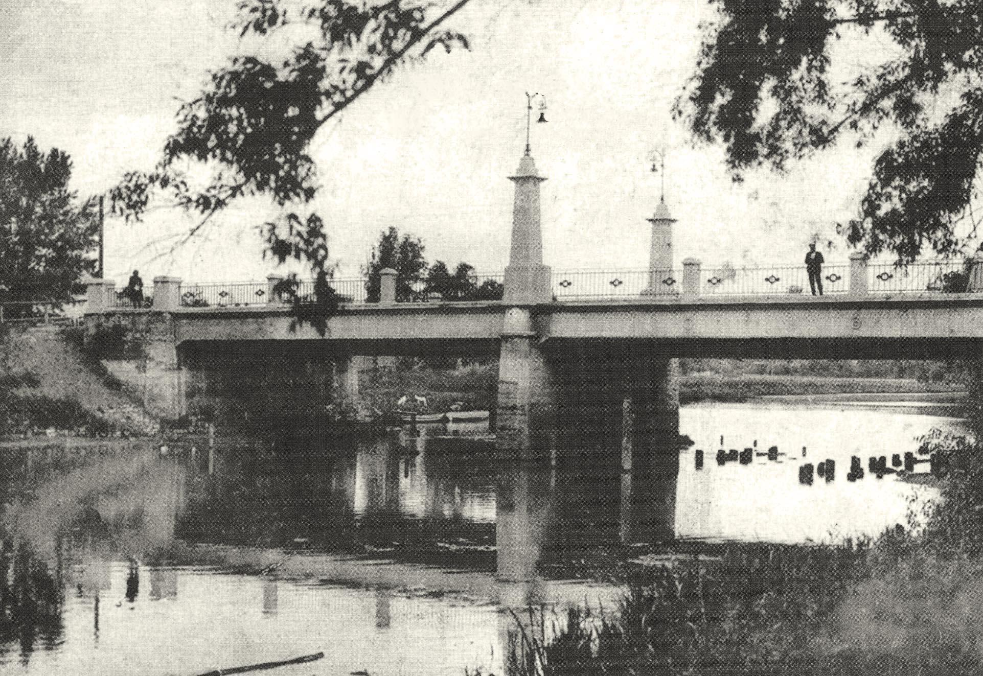Бетонный мост через реку Сумку в районе усадьбы Харитоненко