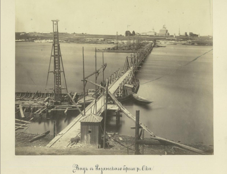 Начало лета 1863 года. Вид с рязанского берега р.Оки