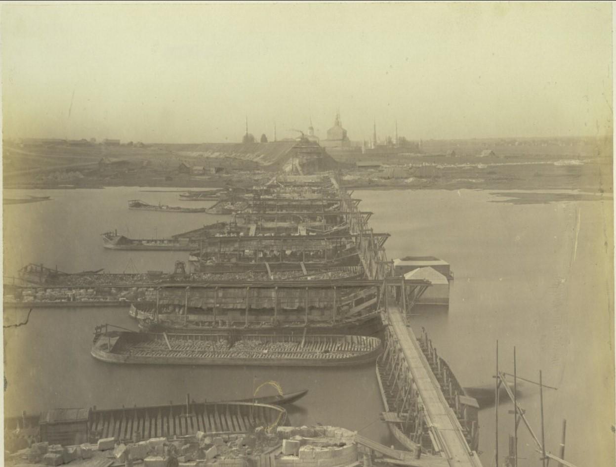30 сентября 1863 года. Вид работ с рязанского берега