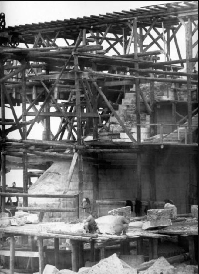 Вид Окского моста во время производства работ