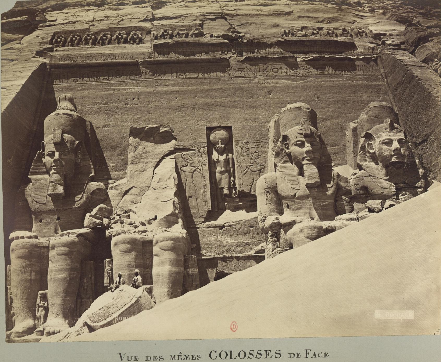 Абу-Симбел. Вид тех же колоссальных лиц. Храм Ибсамбула (Нубия)