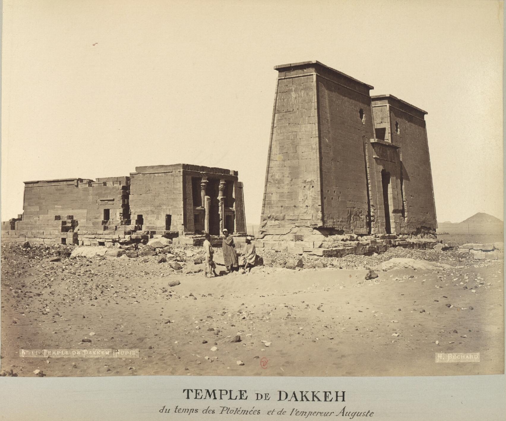 Дакка. Храм, посвященный Тоту и Тефнут  времен Птолемеев и Императора Августа