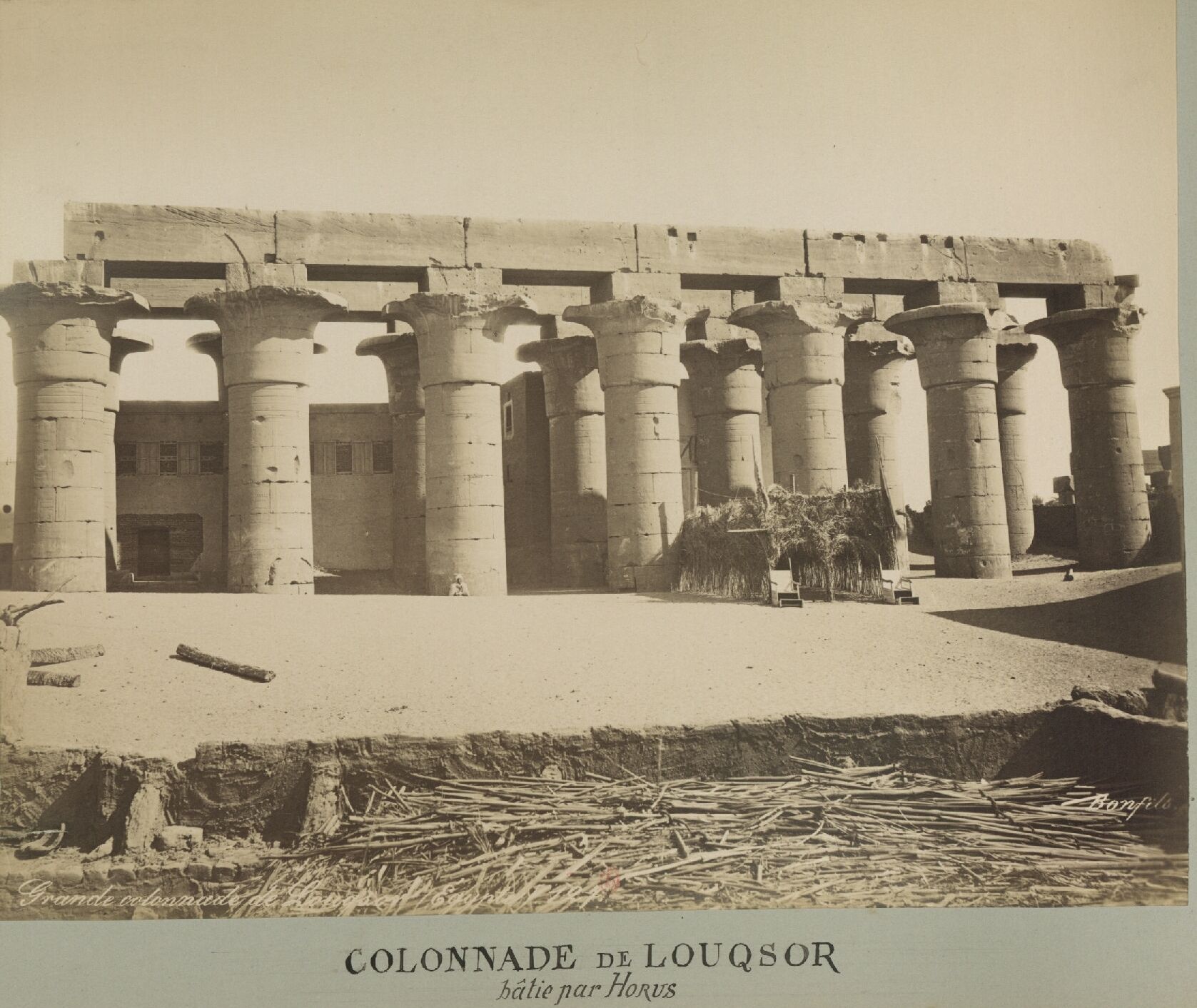 Луксор. Колоннада храма