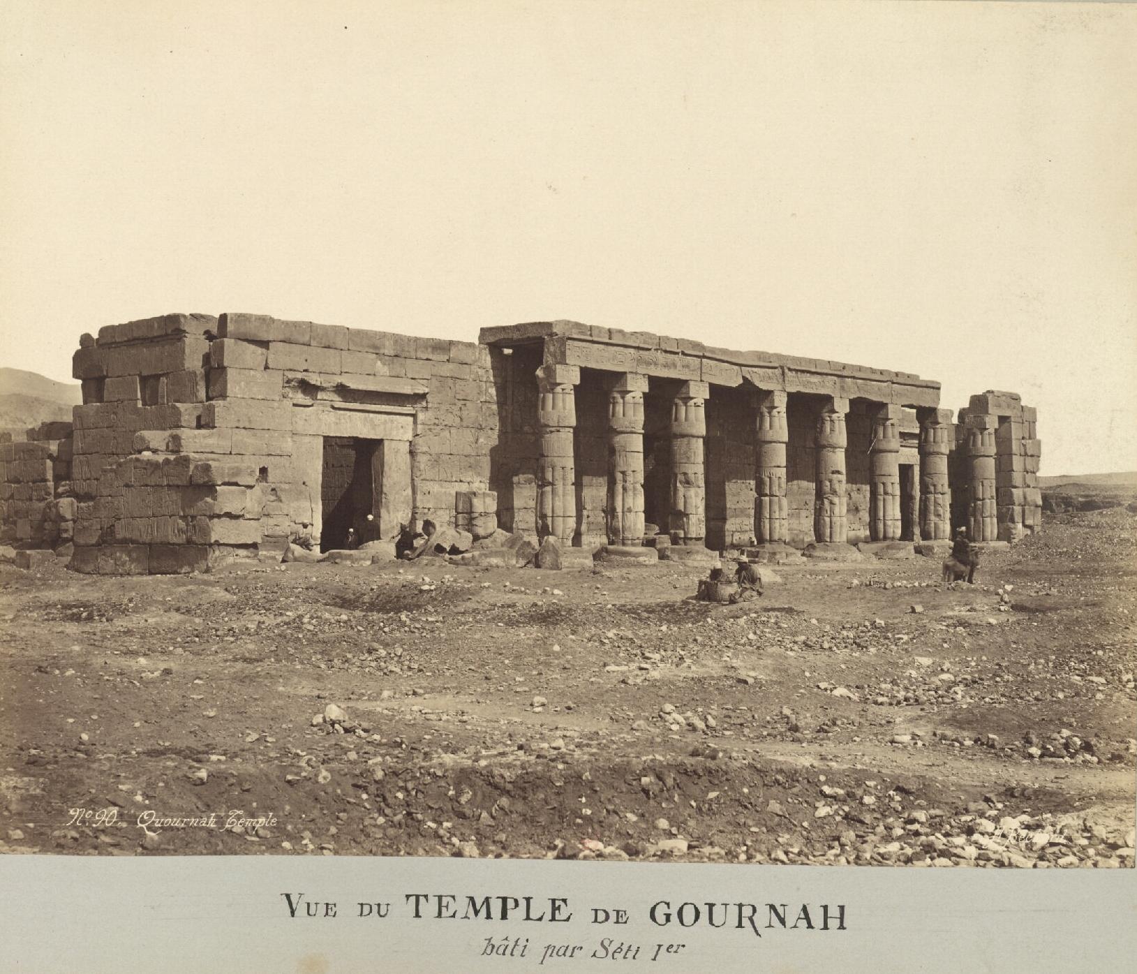Шейх Абд эль-Курна. Вид на храм, построенный Сети I